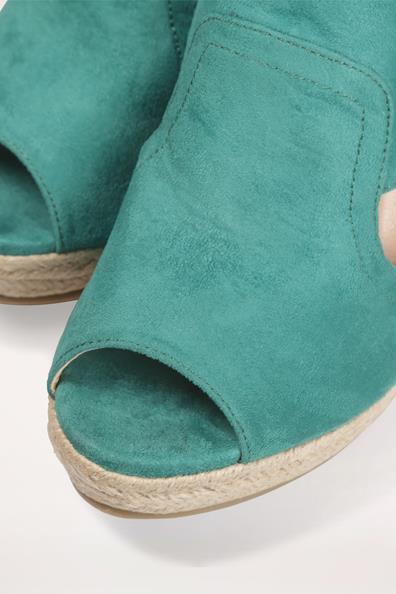 Vert SynthetiquepolyurethaneFemme Avec Taille Noeud Cache Sandales Compensées 37 n0PX8wOk