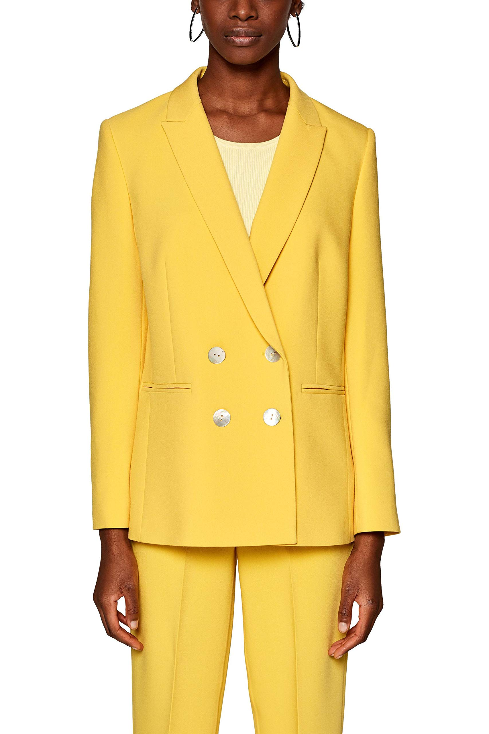 Collection Femme 029eo1g025 Veste Fr CostumeJauneyellow De Esprit 75036 roBWxeQdEC