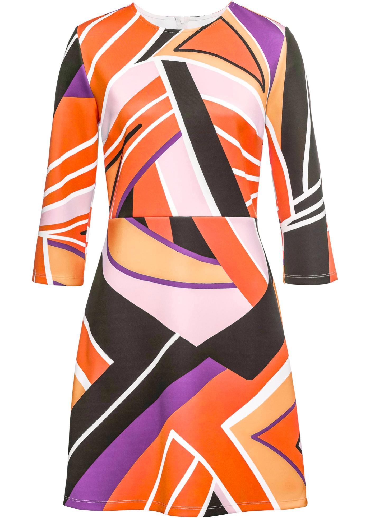 Boutique 8 BonprixRobe Imprimé Manches 7 À D'été Bodyflirt Pour Femme Graphique Fuchsia dCoexB