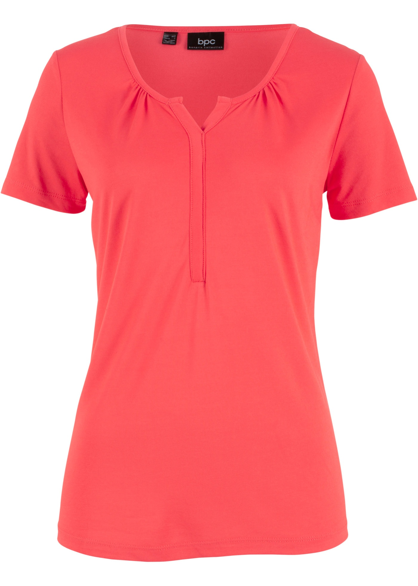Pour De Patte Fluide Modal Manches Bonprix En Boutonnage CollectionT Bpc Femme Courtes Mélange Rouge shirt À uTF5J3lcK1