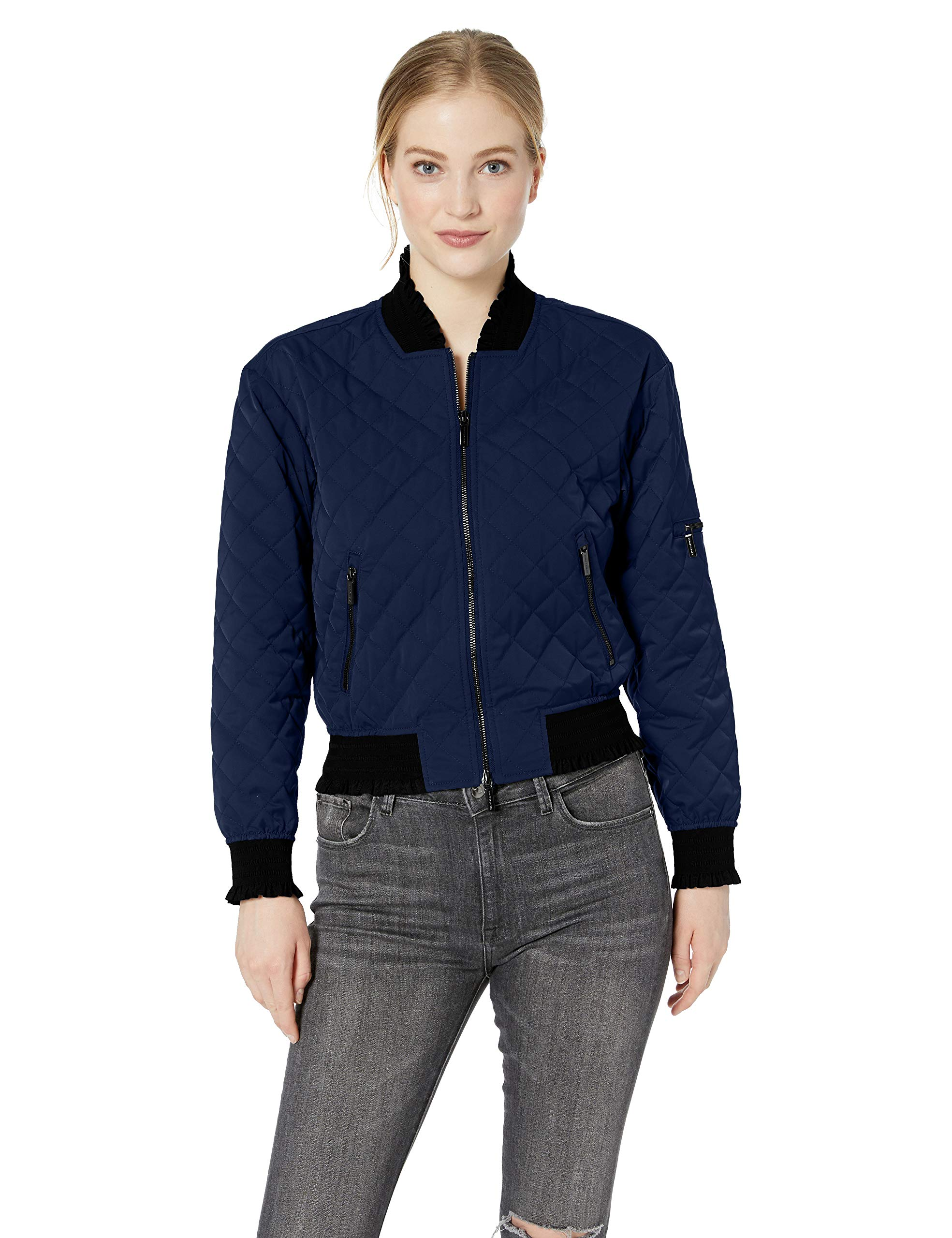 1567Medium Quilted Exchange VesteBleublue Femme Bomber Armani Moon oWQCBrxed