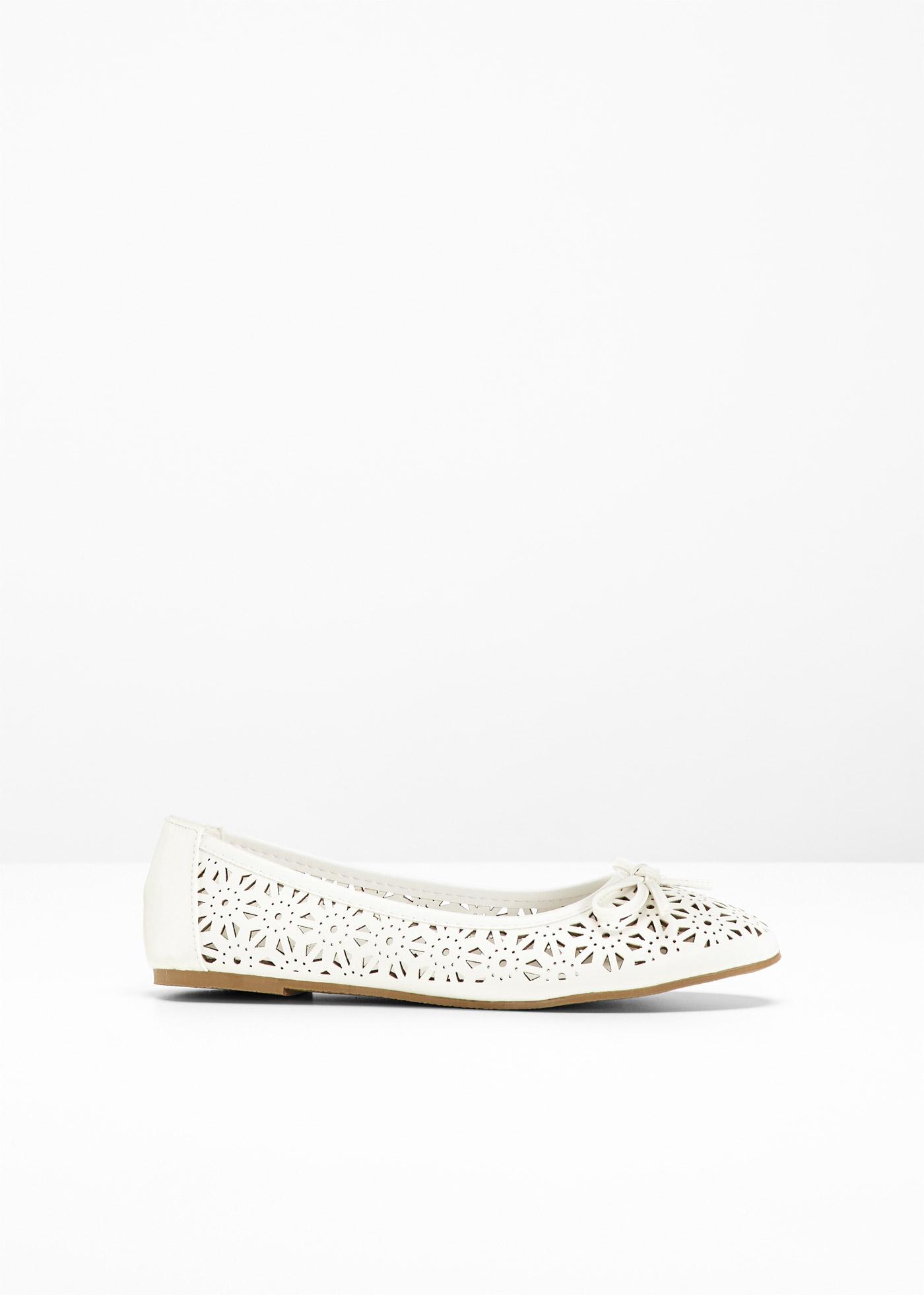 Pour Blanc CollectionBallerines Bpc Largeurs 2 Femme Bonprix En cRqS3A54jL
