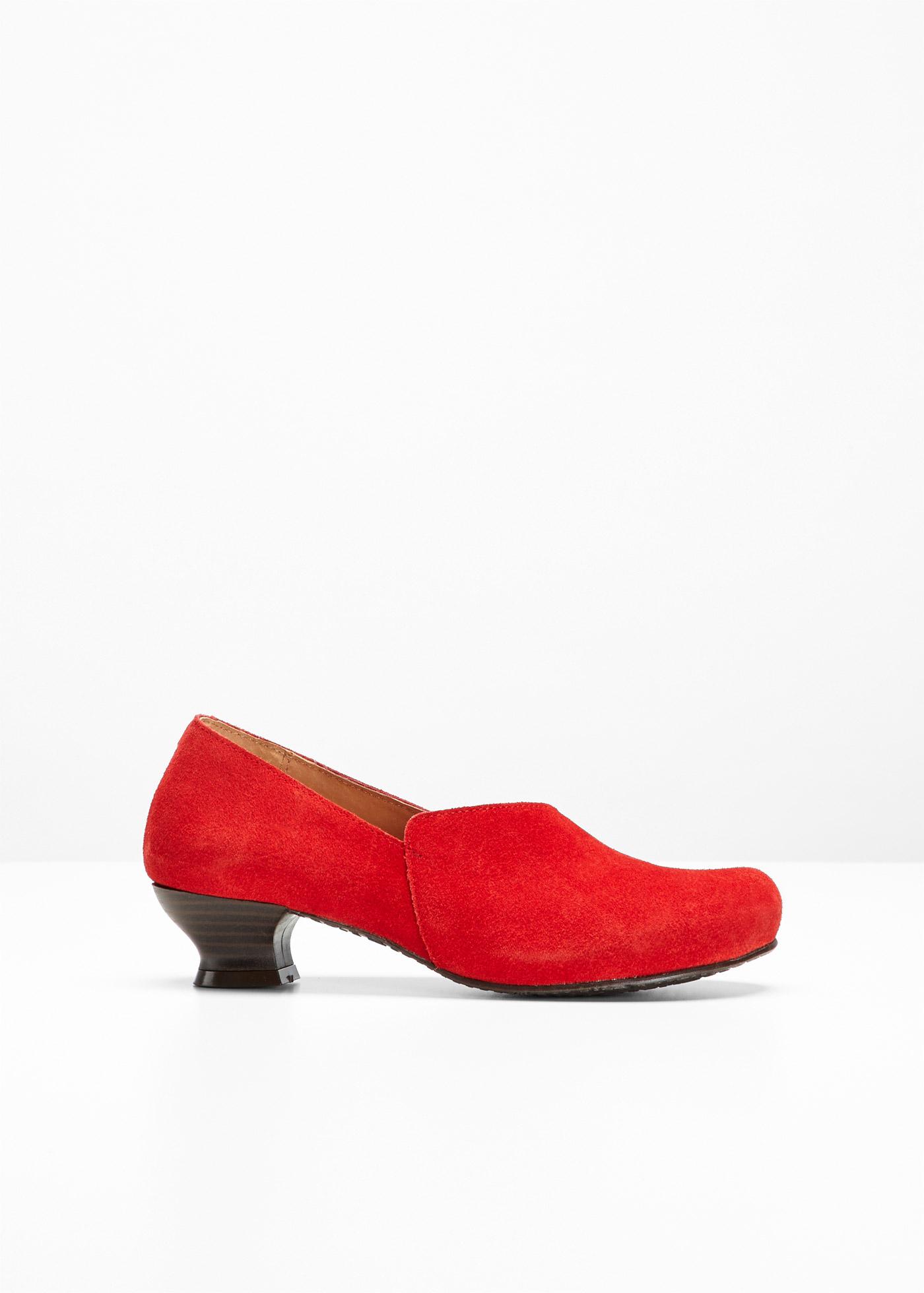Selection BonprixSlippers Confortables Cuir Bpc Pour En Femme Rouge AL5Rq34j
