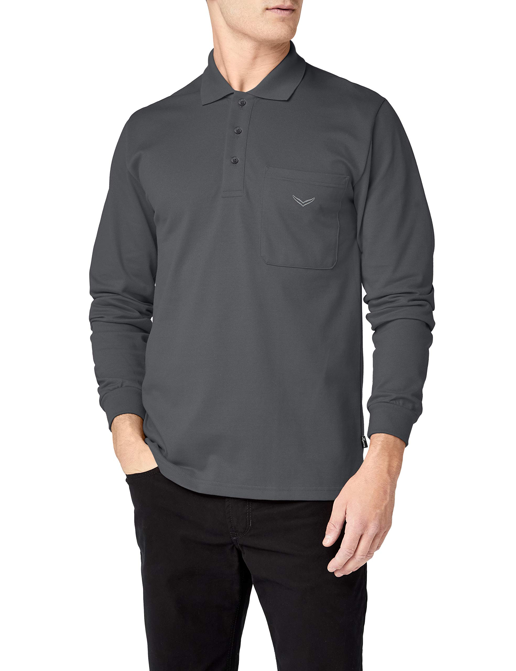 Trigema Homme Polo 018Xxl Grisanthrazit Langarm shirt wn0N8vm