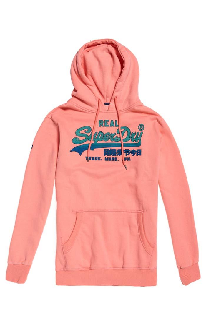 Vintage Hood PullRoseskate Homme Superdry Fade A7xX Pink large Logo dxoCerB