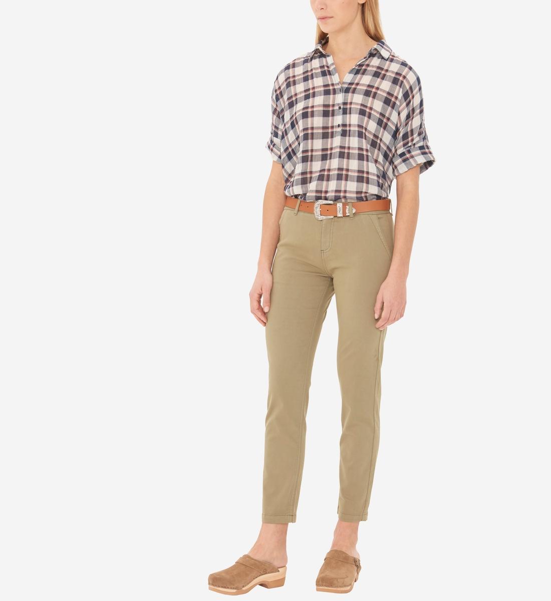 Gerard Haute Taille Pantalon Slim Vert Darel dsQtChrxB