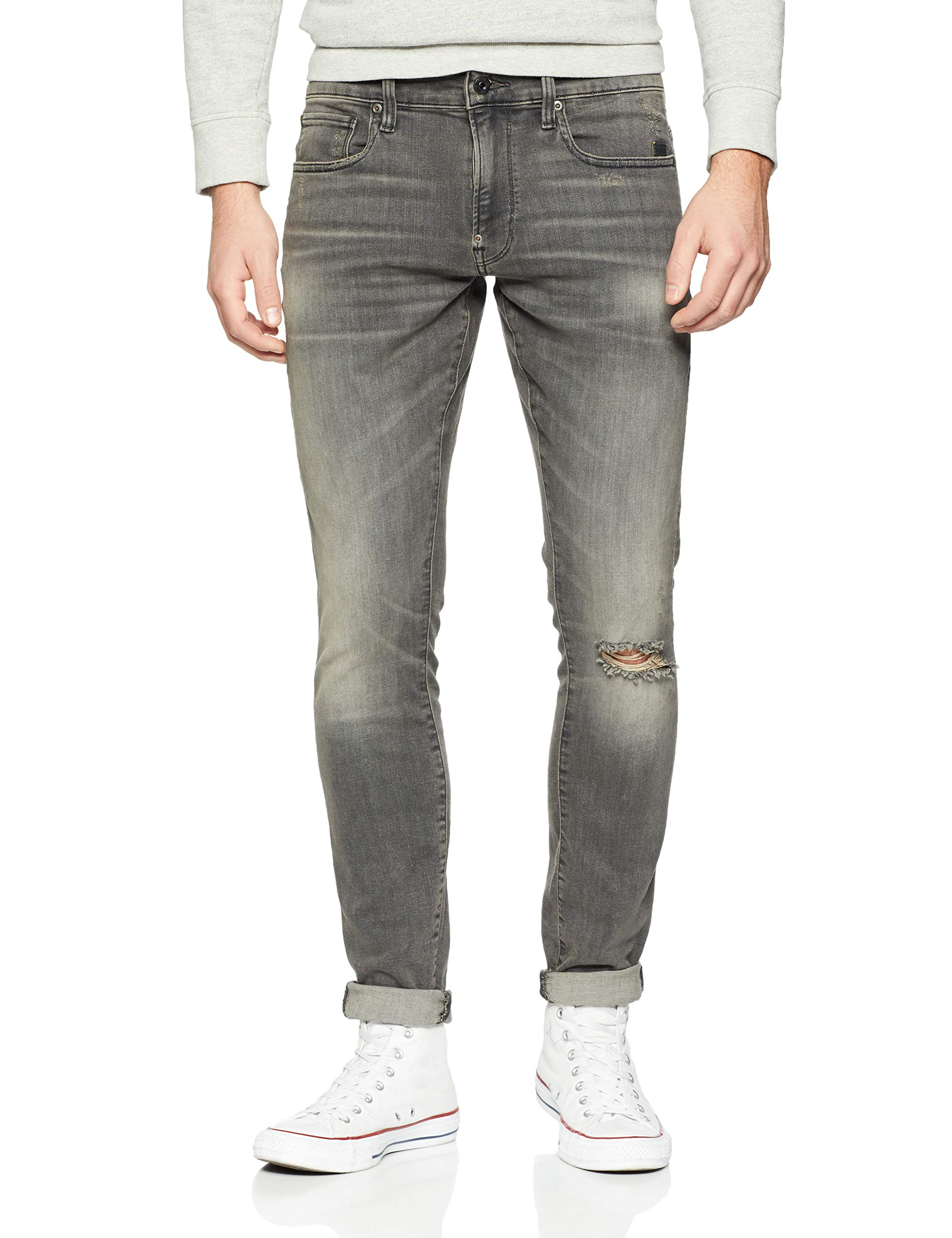 Raw Super Aged SlimJeans star Ripped G Revend l38taille HommeNoirmedium 4865W40 Fabricant40w38l A634 5ScjLR4A3q