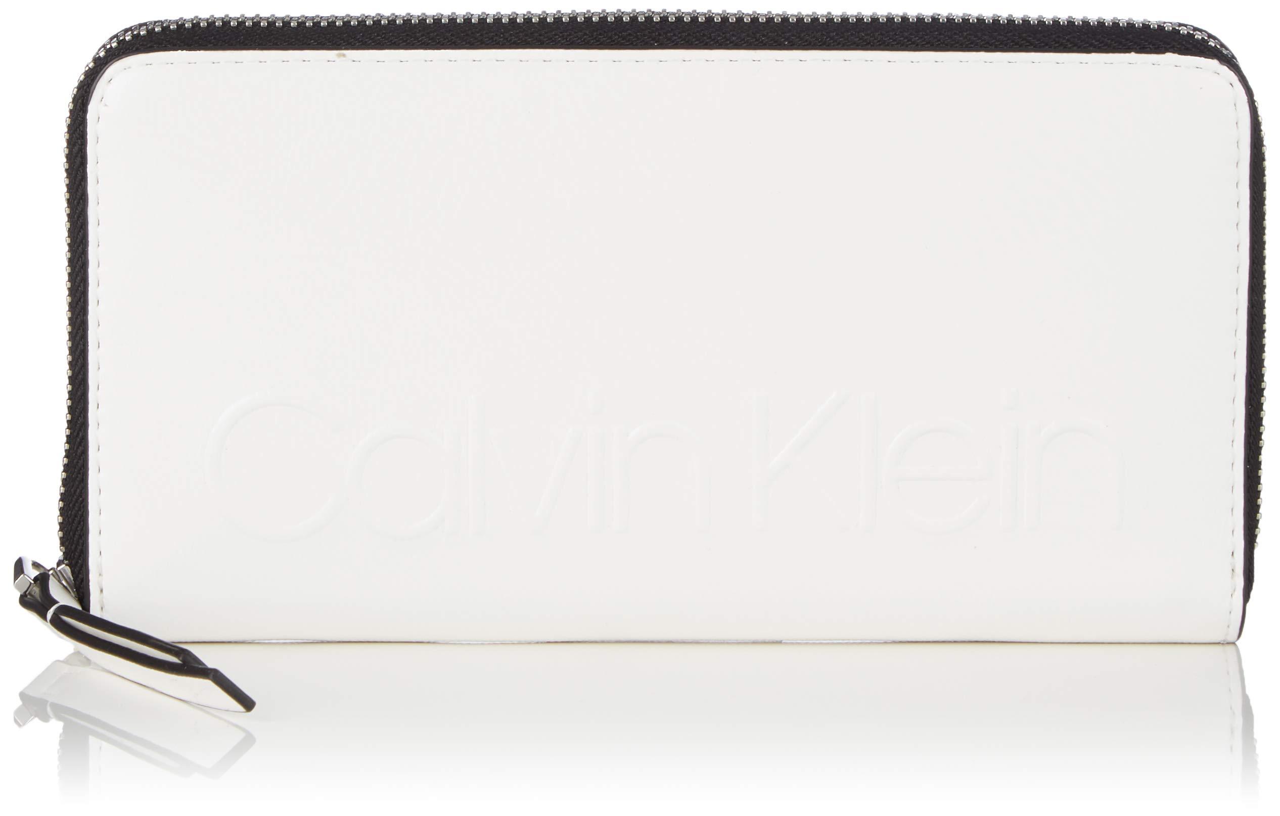 Klein H Calvin Edged Cmb X T White10x2 Large SPortefeuilles Ziparound FemmeBlancbright 5x19 tBQrCsdxoh