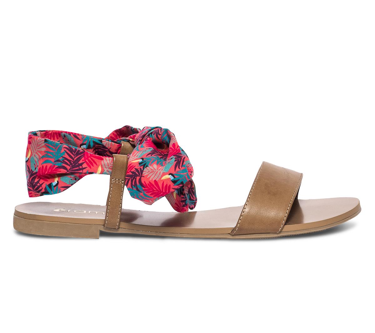 Sandale Avec Eram Camel Ruban Imprimé Feuilles kXZPiOuTw