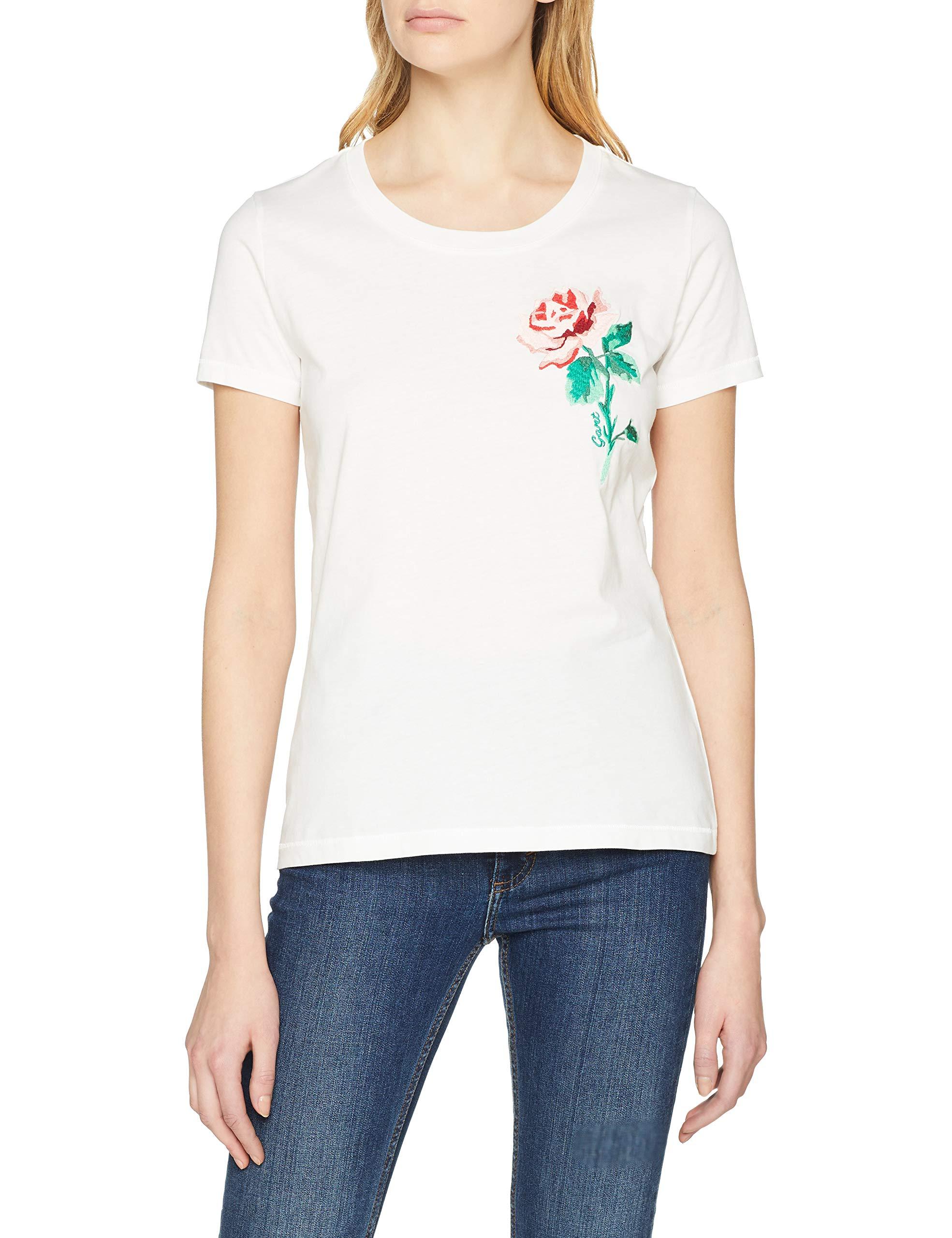T shirt Gant Femme C 113Medium O1Rose neck TBeigeeggshell Ss fv7mIYb6gy