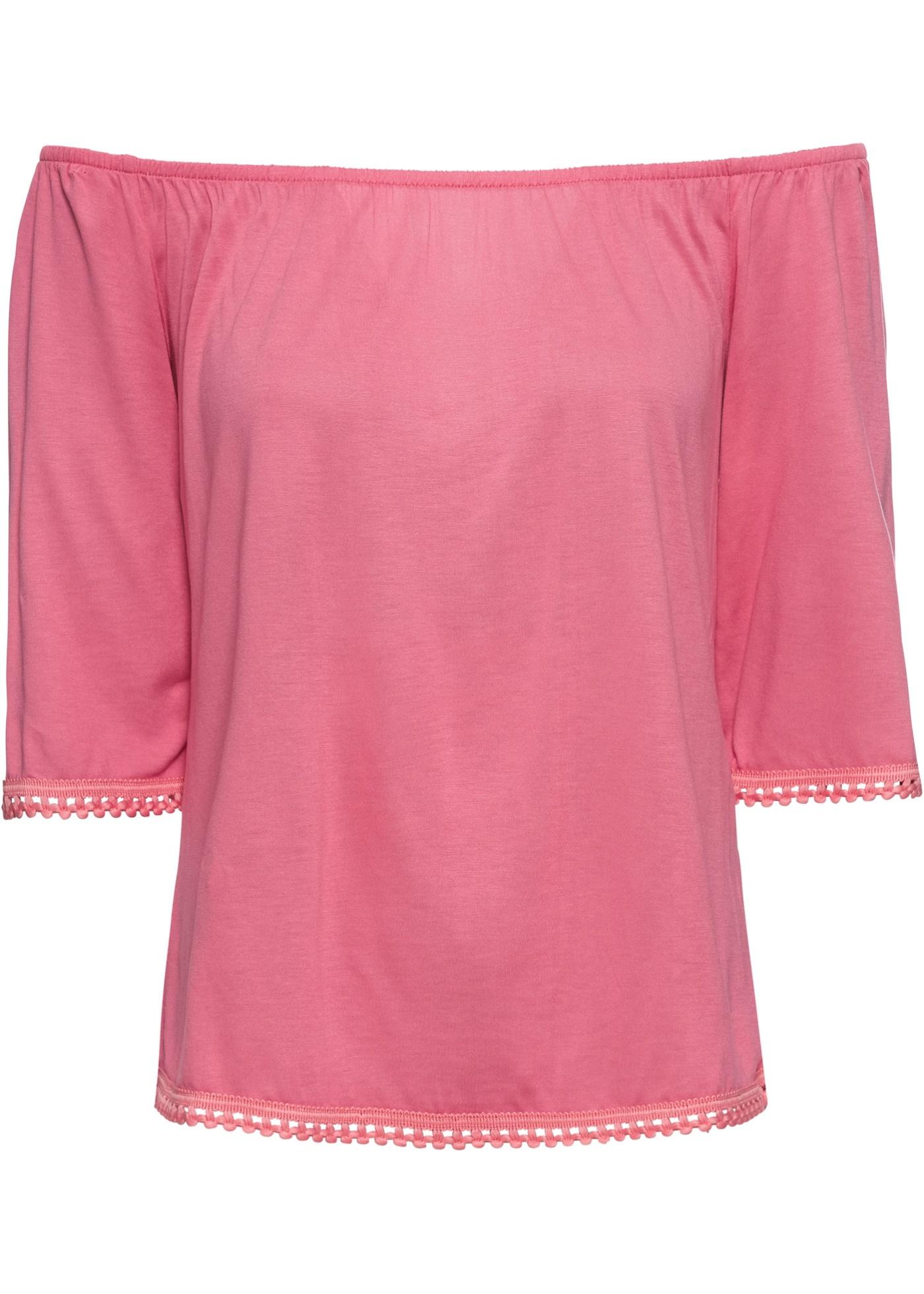 shirt Encolure Carmen Rainbow Rose BonprixT Mi À Manches longues Pour Femme Yb6f7gyv