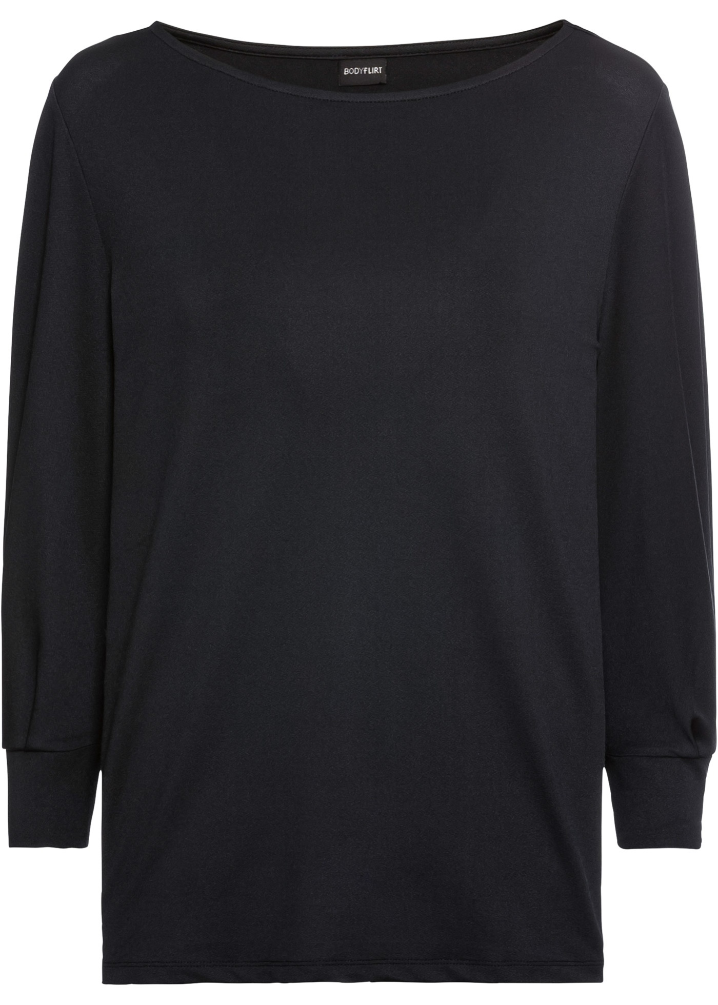 BonprixT JerseyManches 4 Bodyflirt 3 Noir Femme shirt En Pour XkZPiu