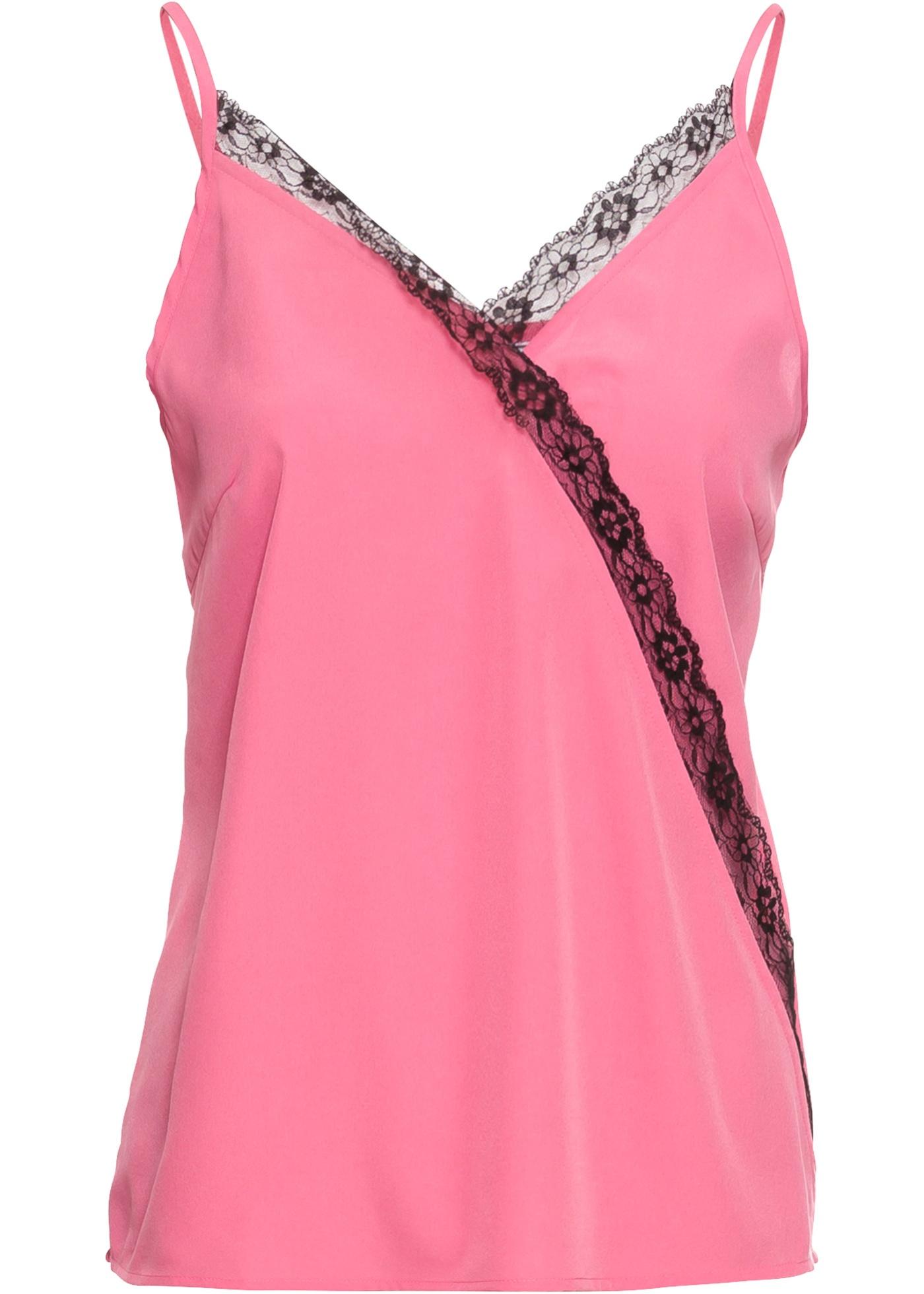 Sans BonprixTop Dentelle Pour À blouse Femme Manches Rose Rainbow hxCtsQrd
