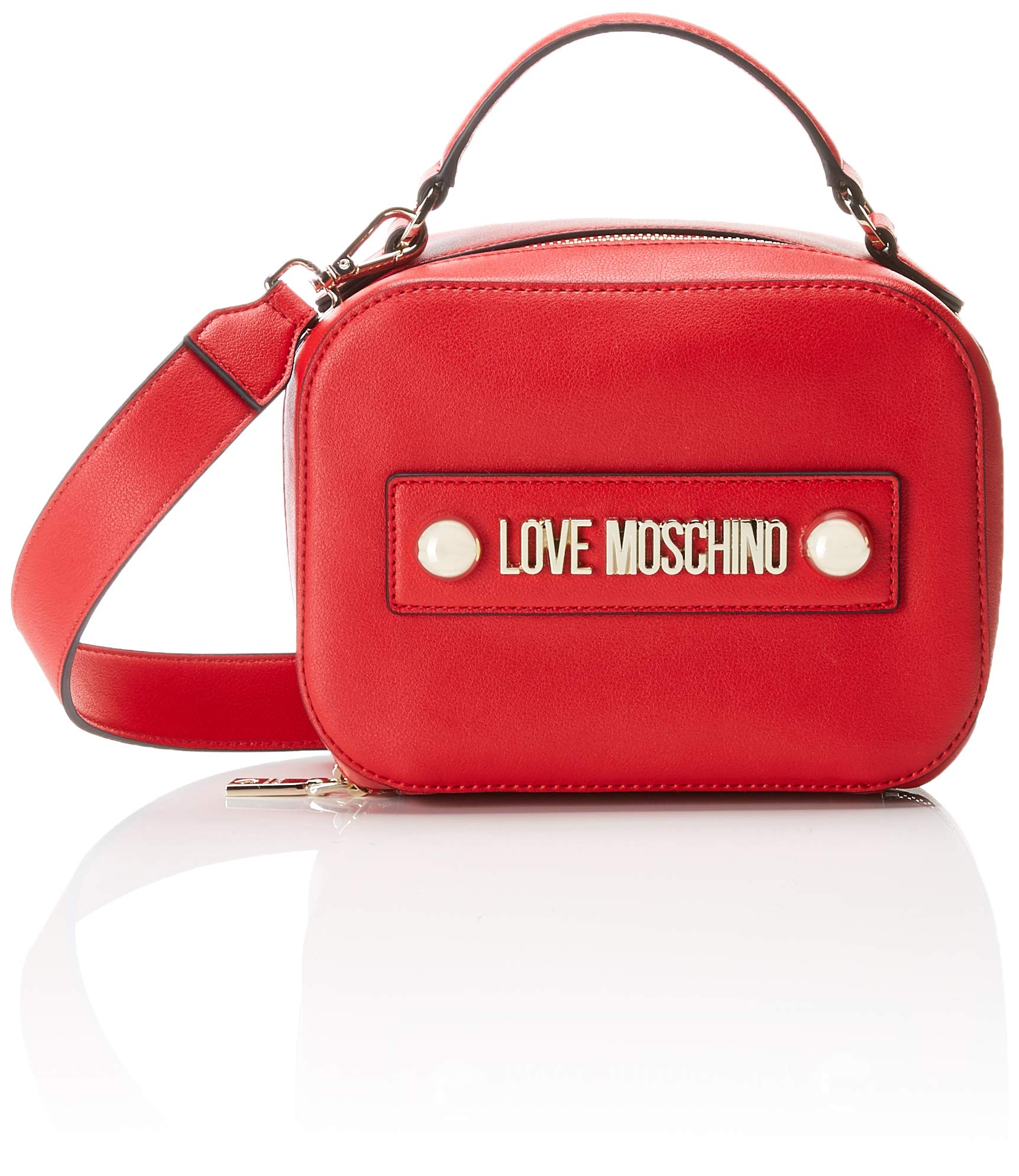 PuSac Love L Cmw FemmeRougerosso10x15x20 X Soft Porté Borsa H Main Grain Moschino l1F3cTJK