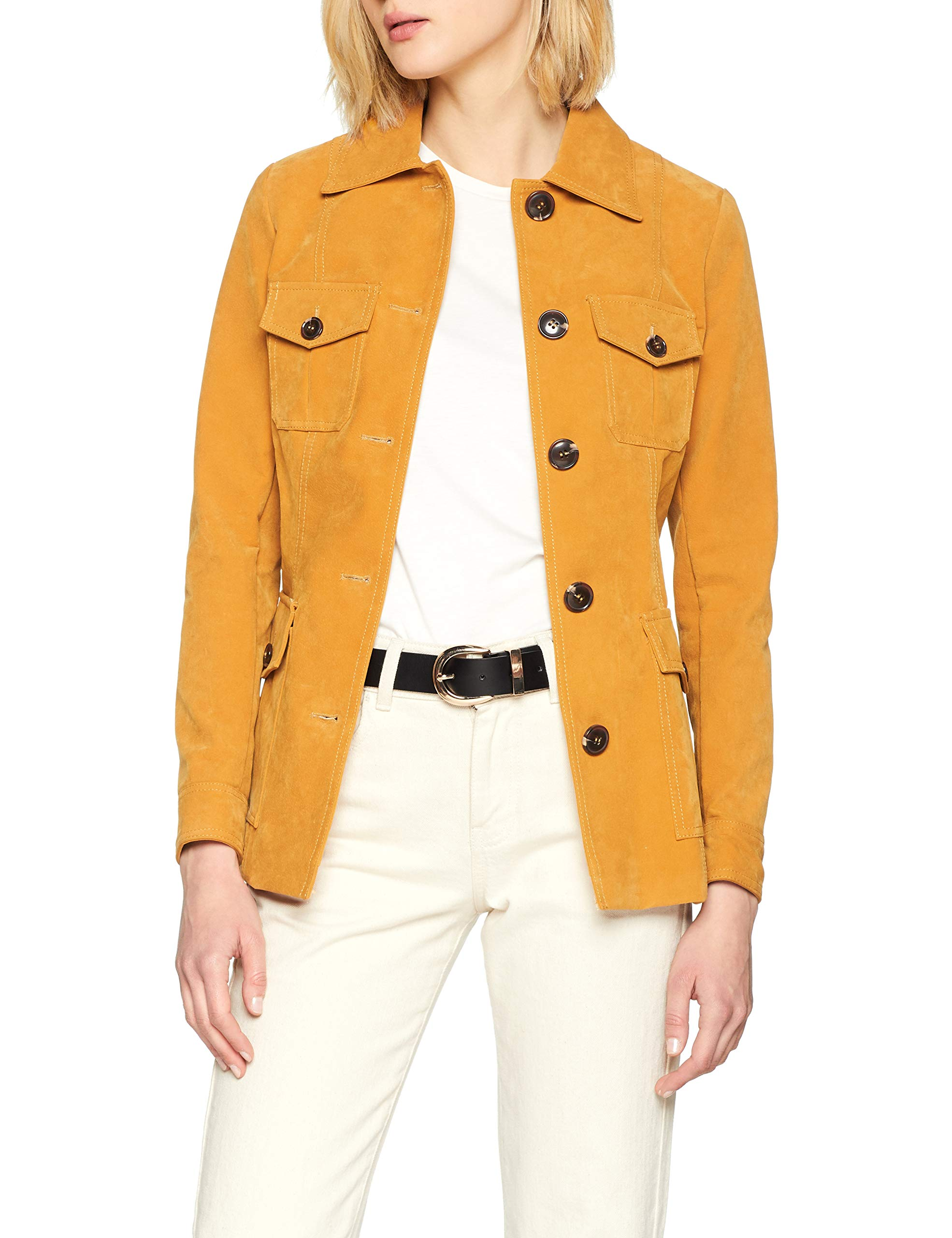 Utility Look 6105425 BlousonJaunedark Belted 8742taille Yellow New Fabricant14Femme m0N8nw