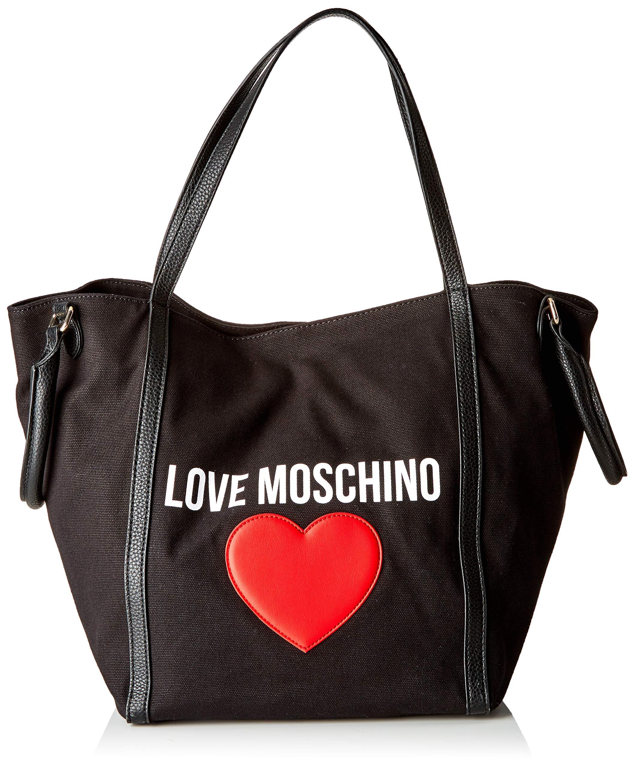 Love Moschino X E Canvas Cmw Pebble PuSac Main FemmeNoirnero20x32x46 L Porté Borsa H bgf6v7IYy