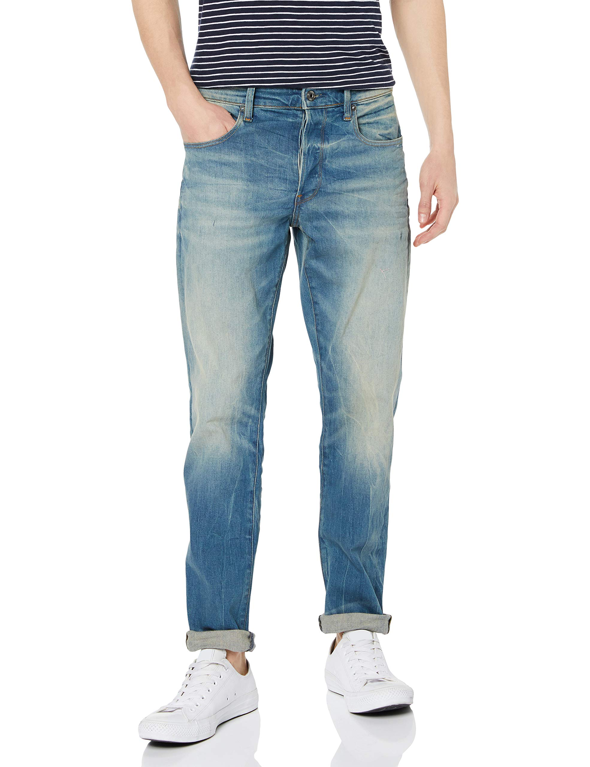 star Homme Straight Raw JeansBleult Aged 6541 42428w32l G Tapered 3301 3jL4R5A