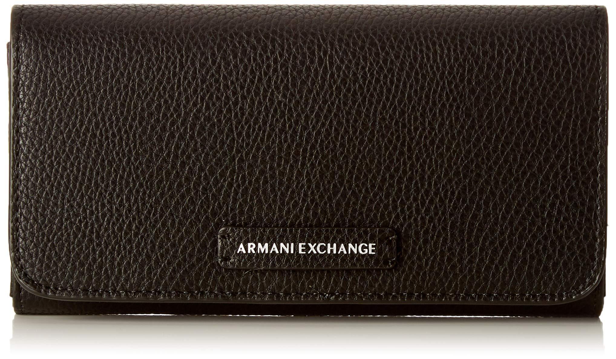 X Wallet With Cmb Armani 5x3x19 T StudPortefeuilles FemmeNoirblack10 Exchange H l1FJKc