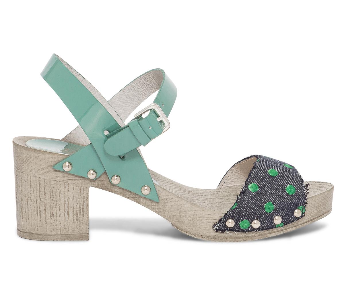 Vintage Sandale En Vert Jade Ippon Cuir Verni Qhtrds