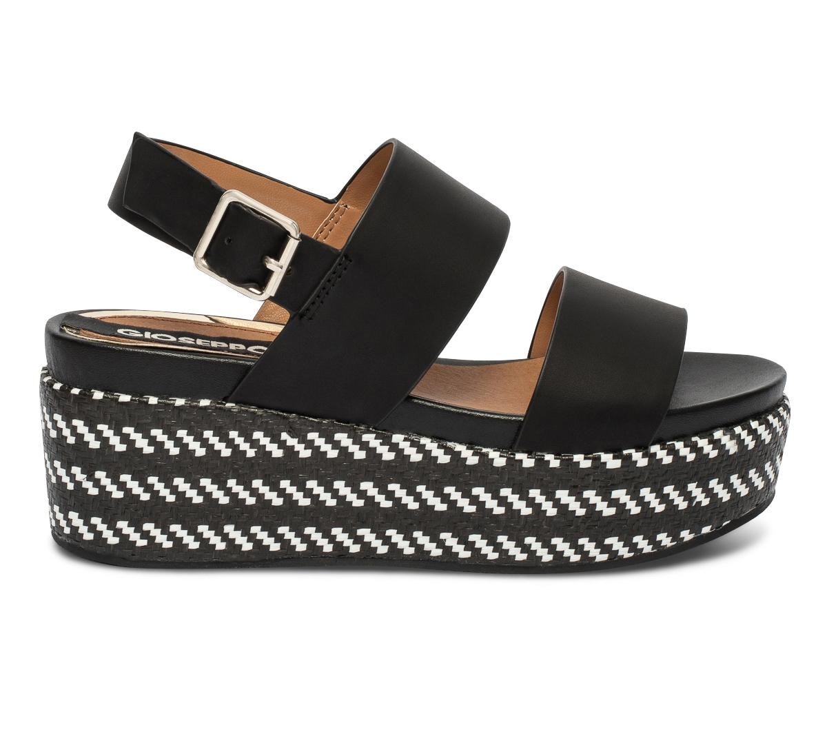 Gioseppo En À Plateforme Noire Sandale Cuir ulK1FJcT35