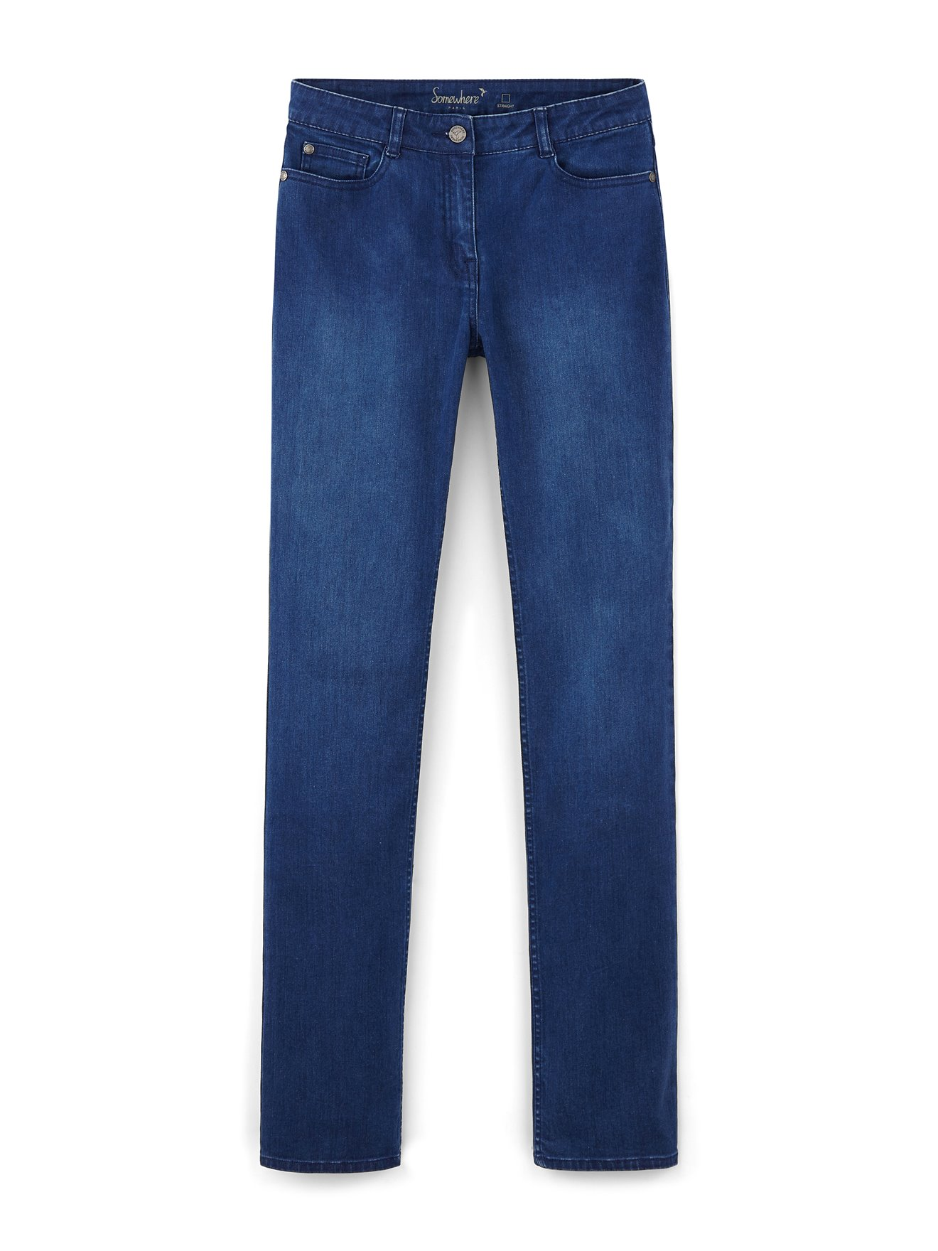 Poches Femme 5 Denim Vintage Straight Stretch SomewhereCouleur Jean BeCxod