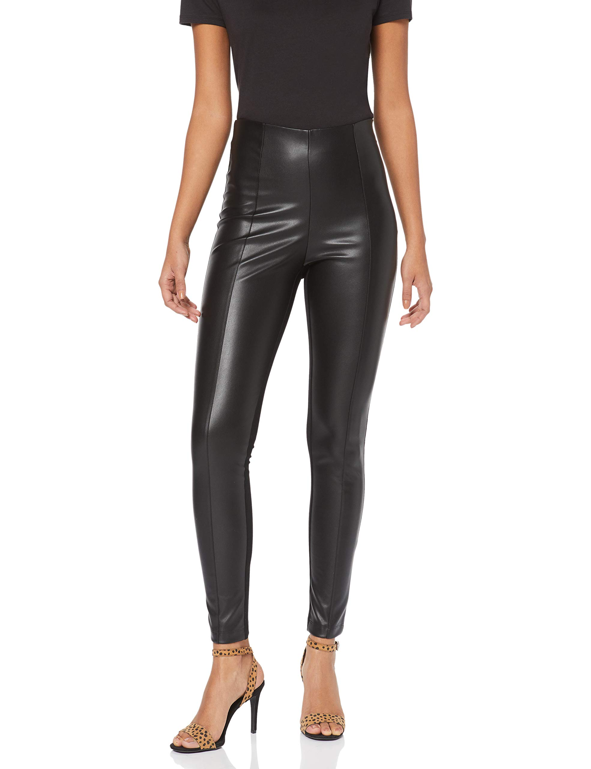 Karen Millen Faux Legging Leather SculptantNoirblack Fabricant12 01Taille Femme XZiuPk