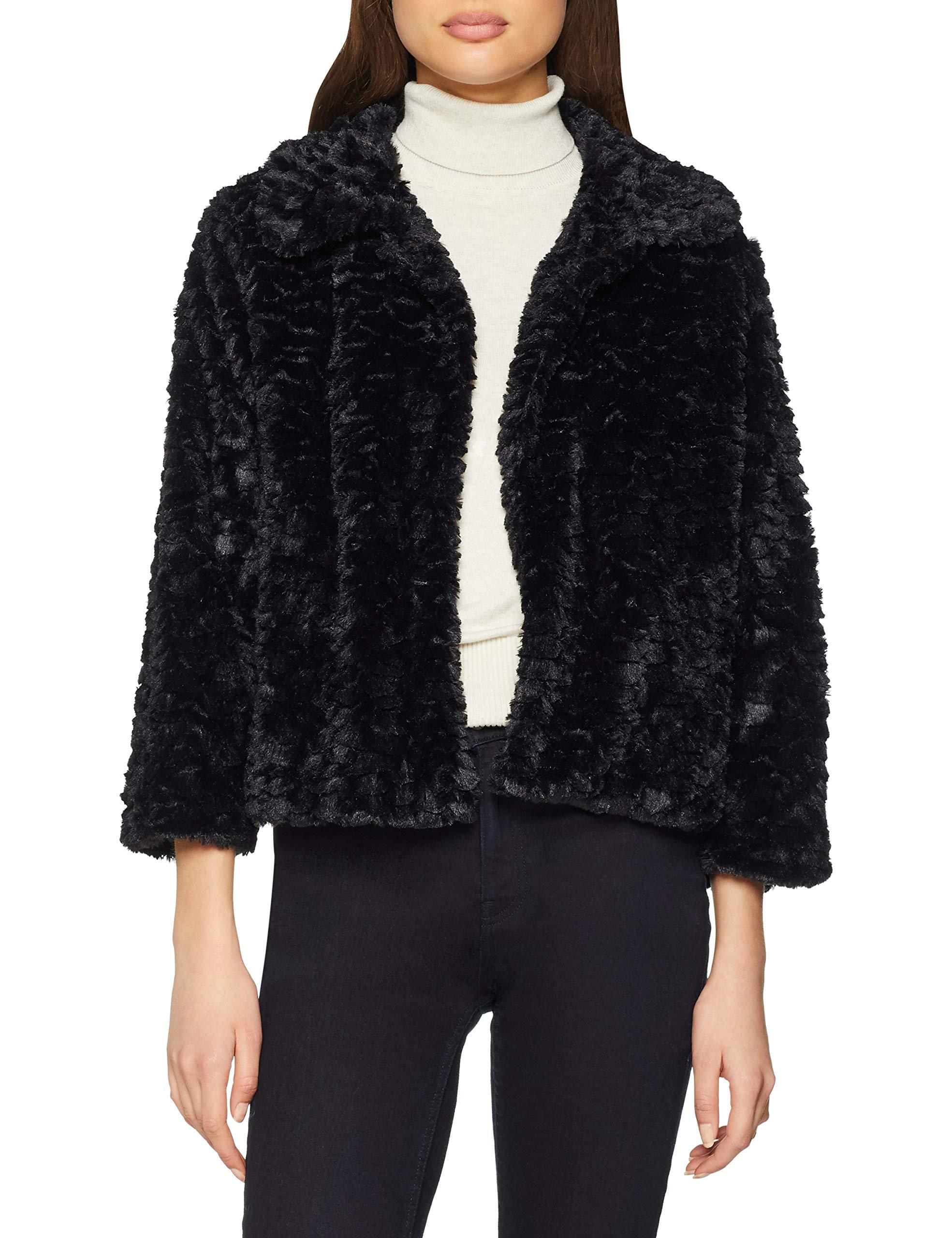 Collar FabricantMediumFemme Faux BlousonNoirblack40taille Jacket Mela Fur QxCrthsd