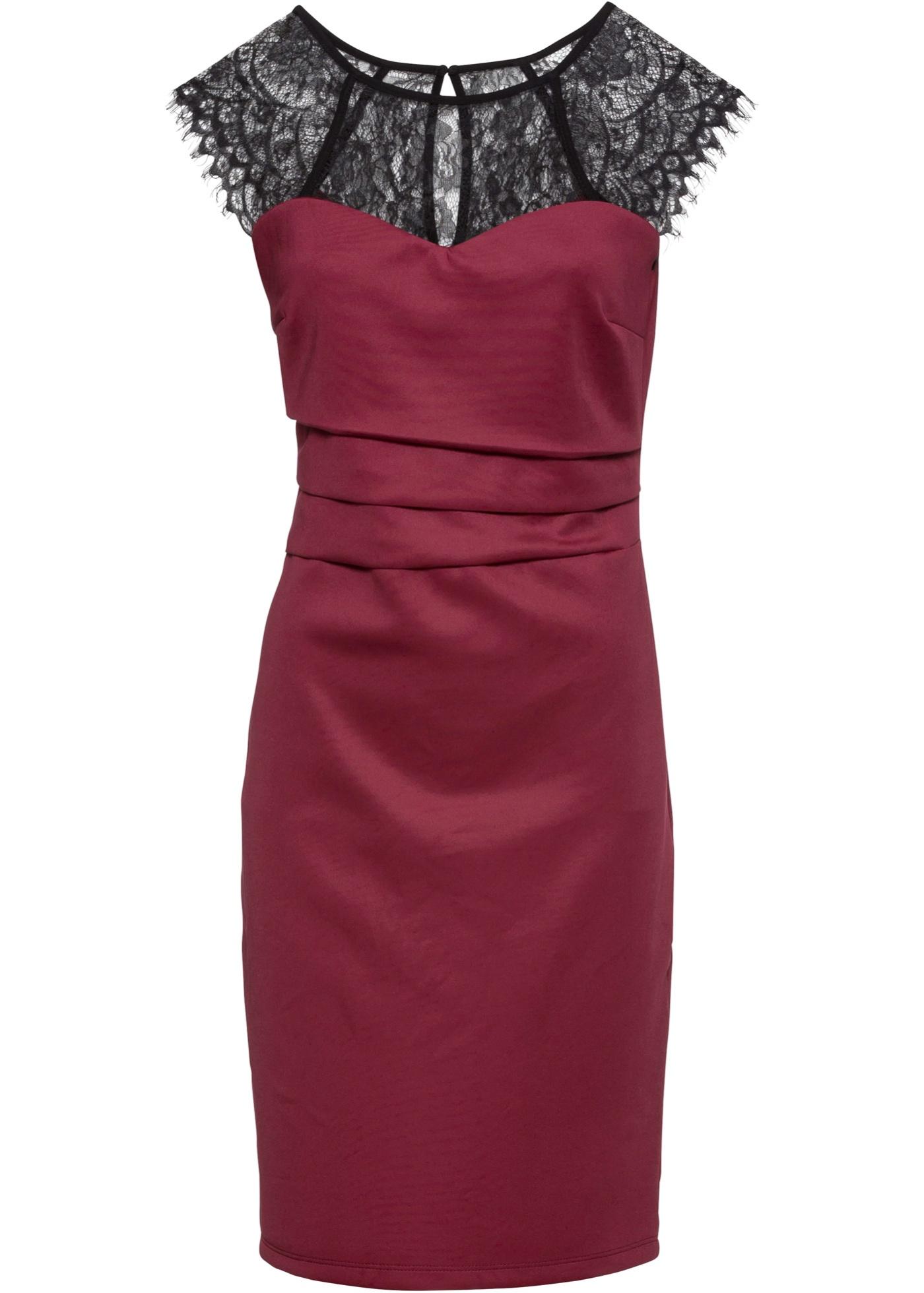 Fourreau Rouge Sans D'été Femme Boutique BonprixRobe Pour Bodyflirt Manches TlF5uc31KJ