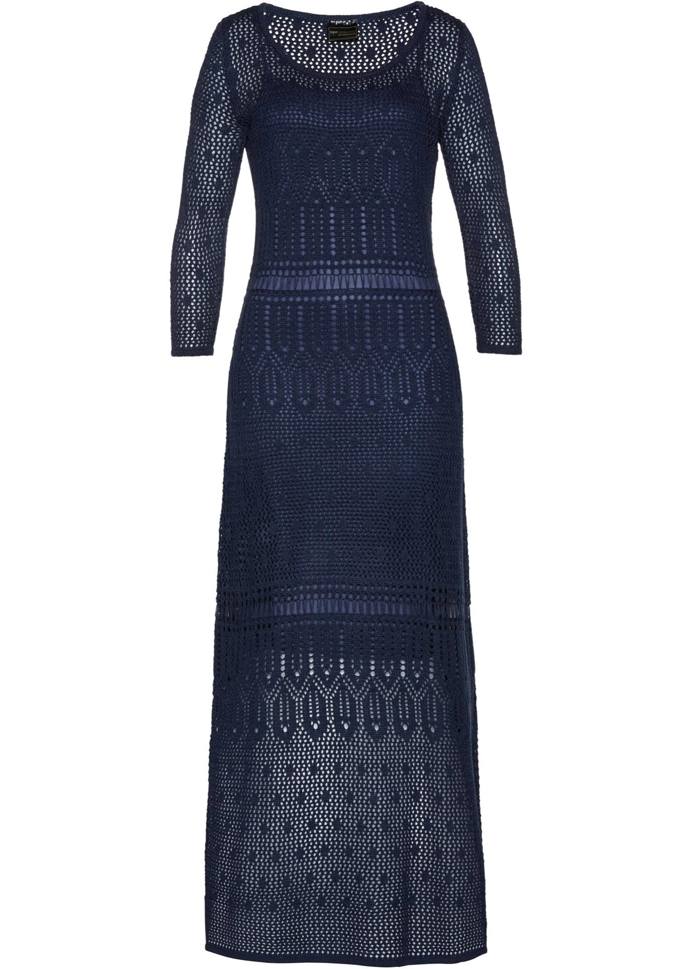 Premium Manches Selection BonprixRobe Bleu 4 D'été 3 Femme Pour Ajourée Bpc rBdexoC