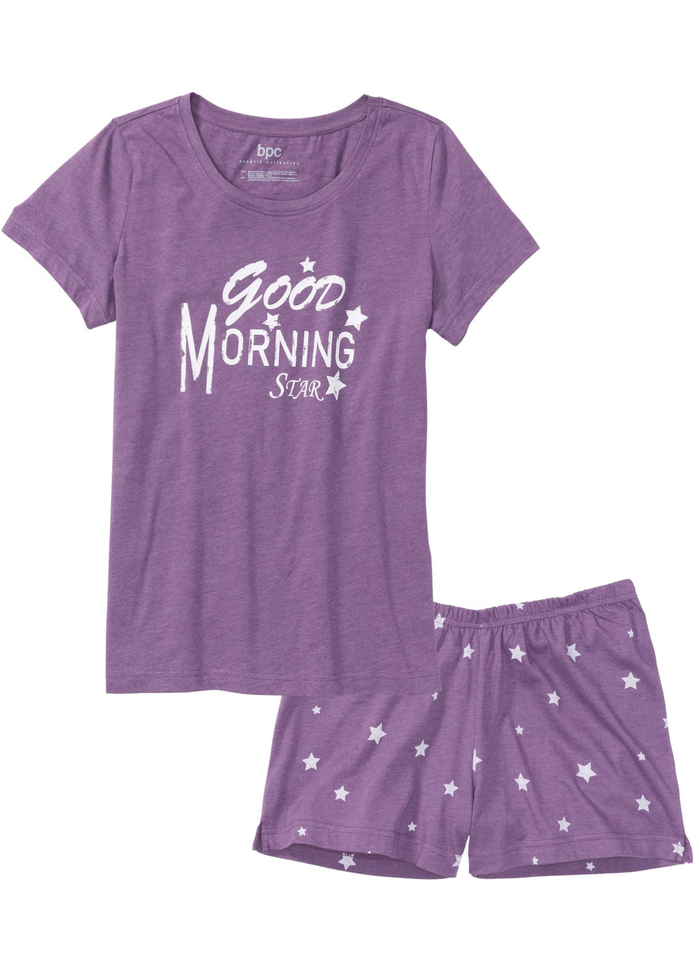 Manches CollectionPyjashort Bpc Pour Bonprix Violet Courtes Femme zMUVpS