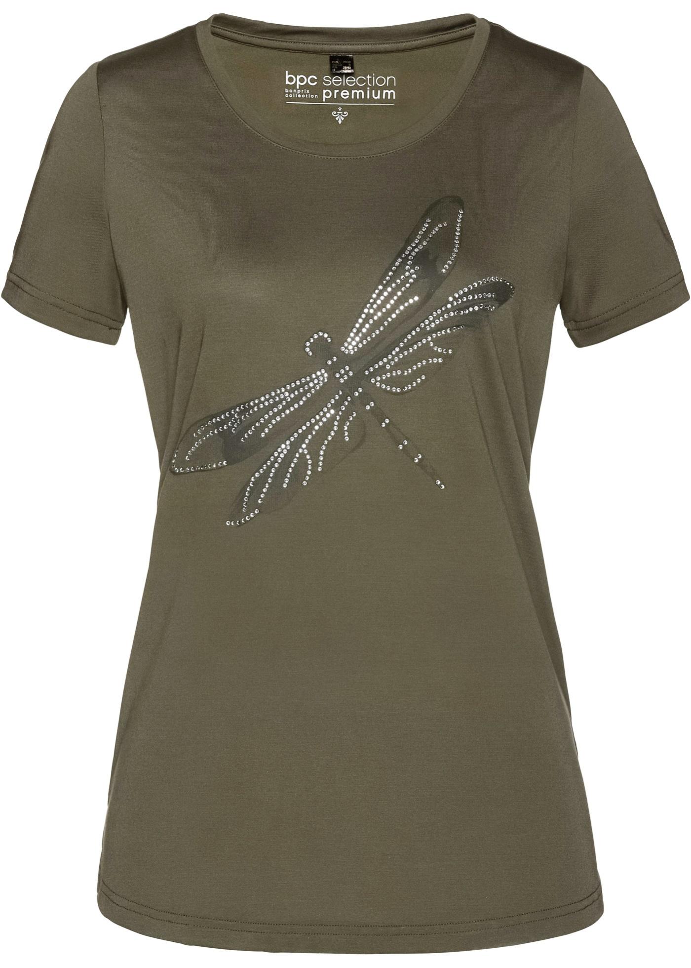 Courtes Vert Selection En Bpc Manches Premium Modal BonprixT Femme shirt Pour w0kO8nP