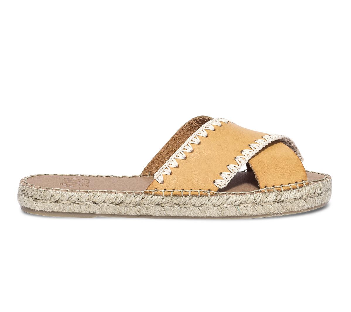 Shoes En Polka Cuir Camel Brides Croisées À Mule Plateforme edCBQrxoW
