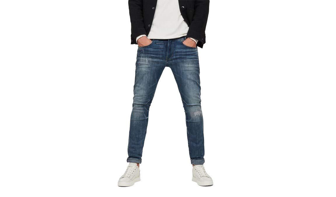 989228w32l Aged Antic DStaq star 8968 Raw pocket Restored Homme 5 G Skinny JeansBleudk QdtsrChx