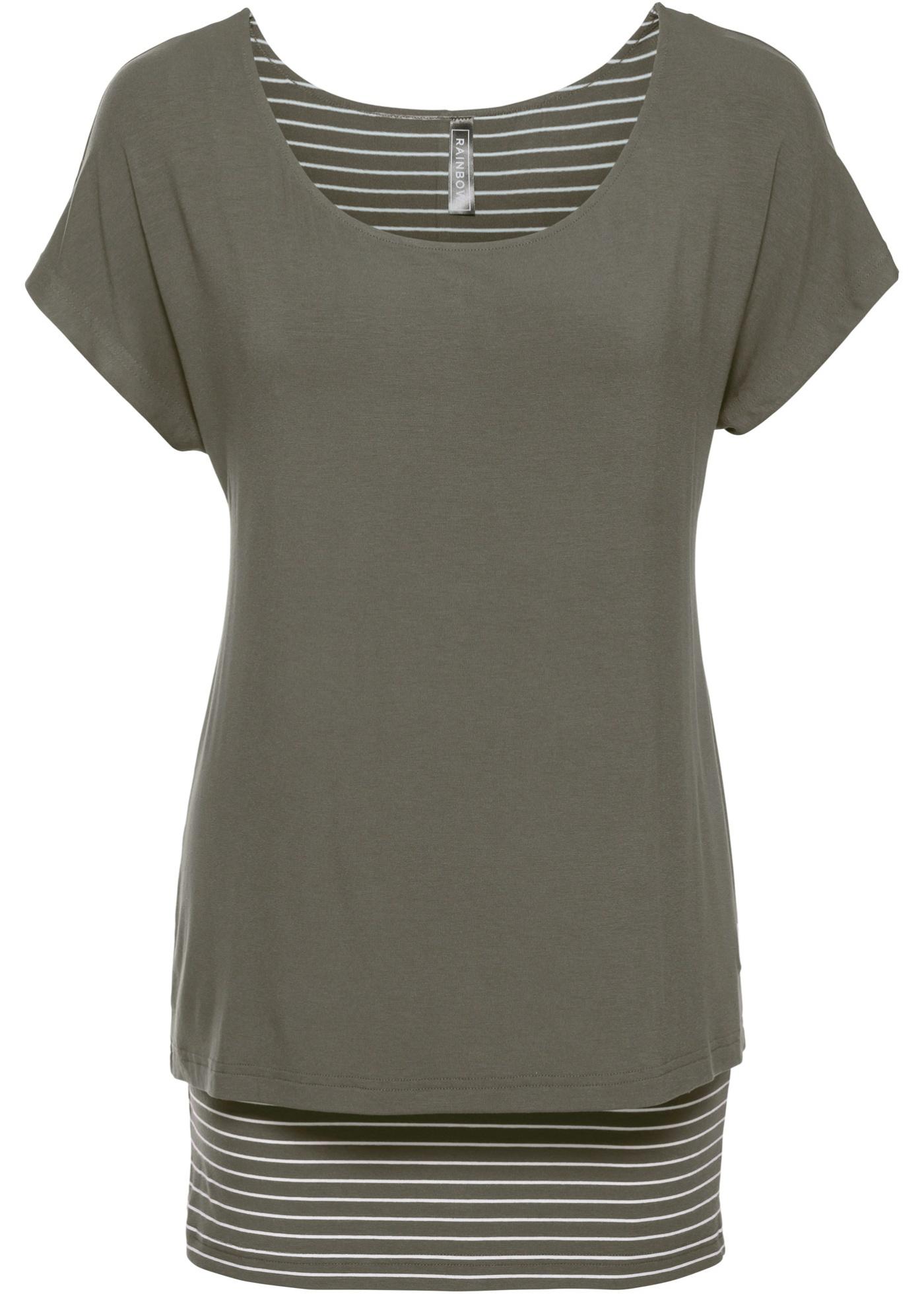 Manches Pour Courtes En Rainbow Vert BonprixT Femme 2 1 shirt b7fYgy6