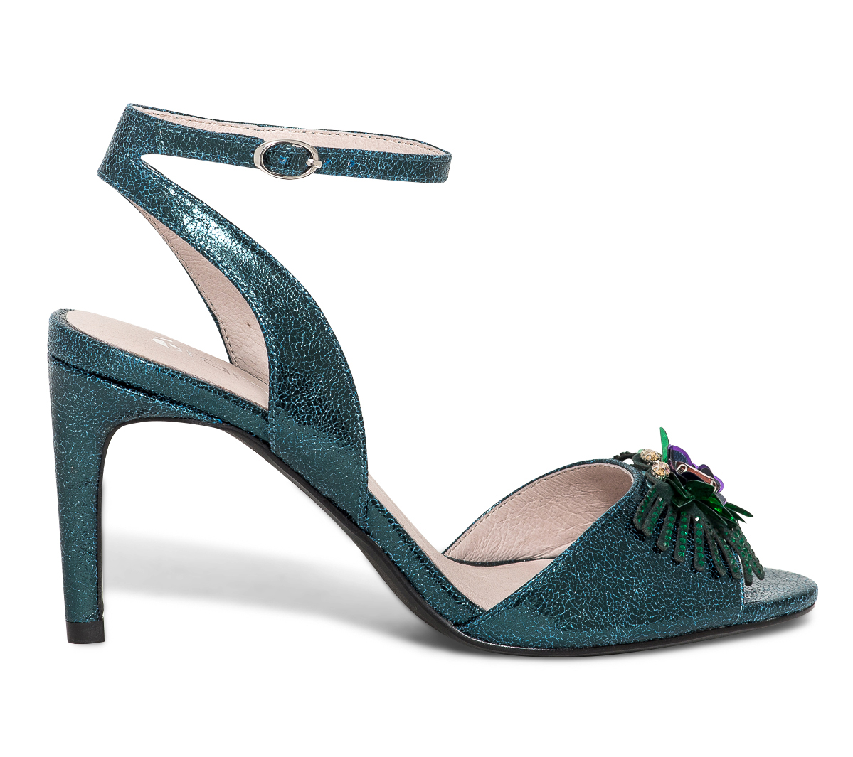 Sandale Bleu Floral Canard À Décor Eram PXn0k8wNO