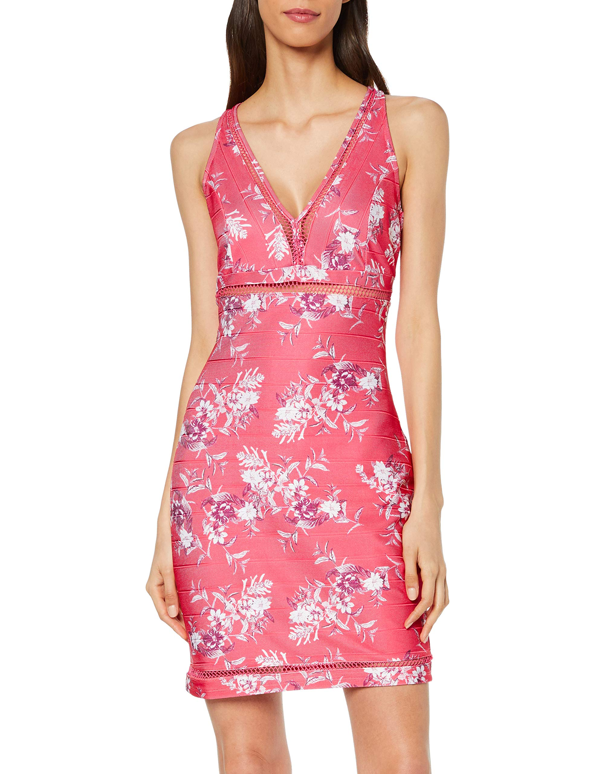 Pink Guess RobeMulticolorevintage Dress Flowers Malica P49fLarge Femme rdQCths