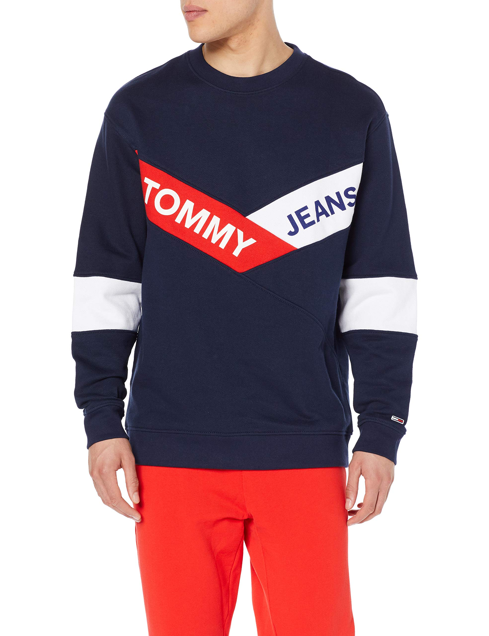 Tjm Tommy Iris 002L Crew Homme Sweat shirtBleublack Jeans Chevron 0ZnkXNw8OP