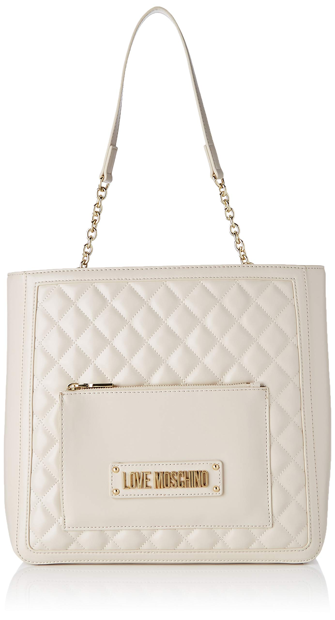 PuSac L Love H Borsa Nappa À Bandoulière Moschino X FemmeEcruavorio11x29x35 Quilted Centimetersw 2e9YDEIWHb