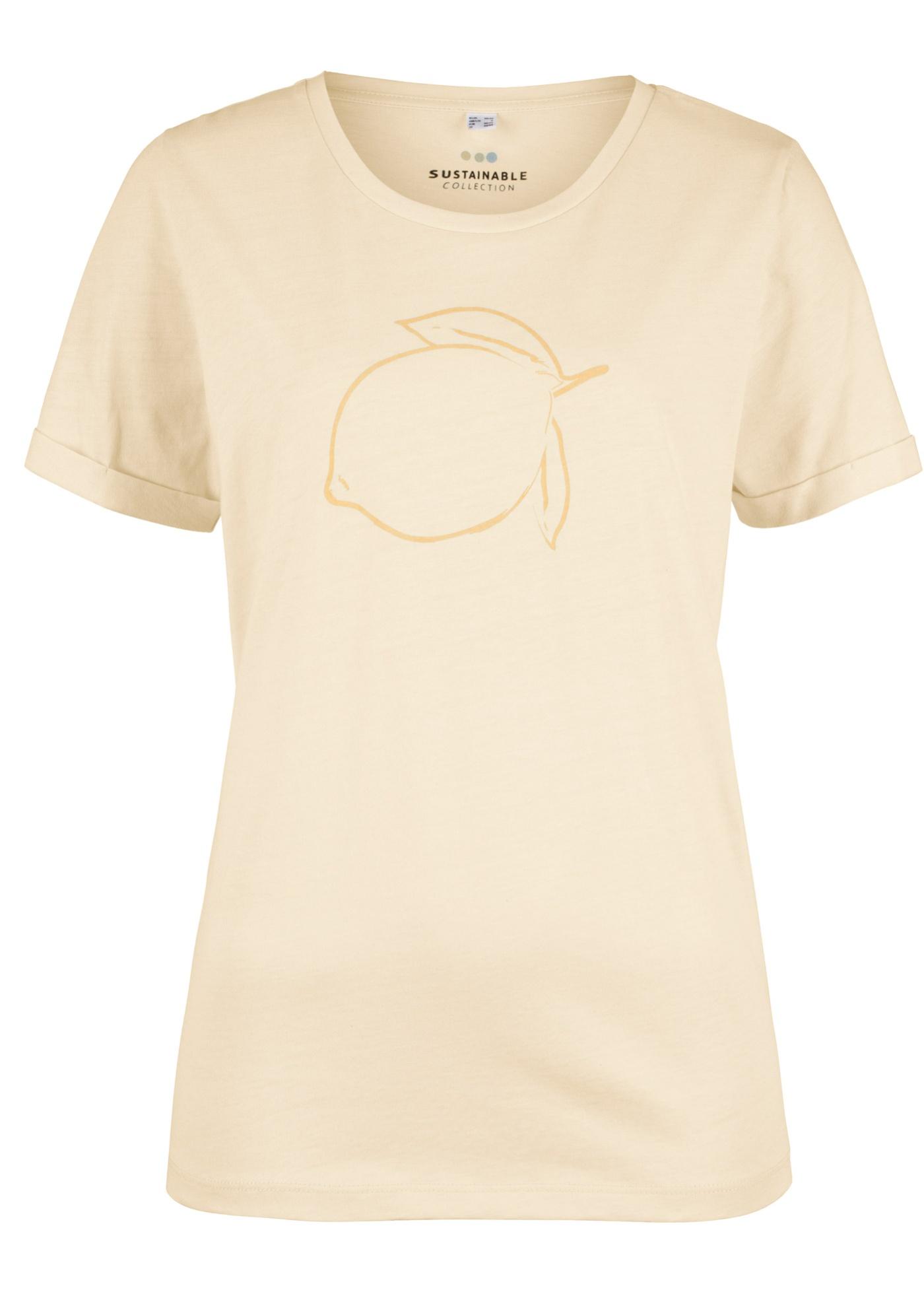 Bonprix CollectionT Femme Naturelle Courtes Beige Bpc Teinture Manches Pour shirt XiuTZOPk