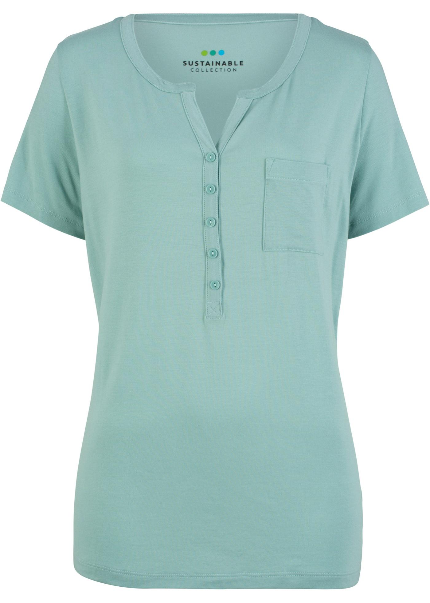 Éco Blouse Lyocell Bpc Femme Courtes CollectionT Vert En Pour shirt responsable Bonprix Manches 4RjLA5