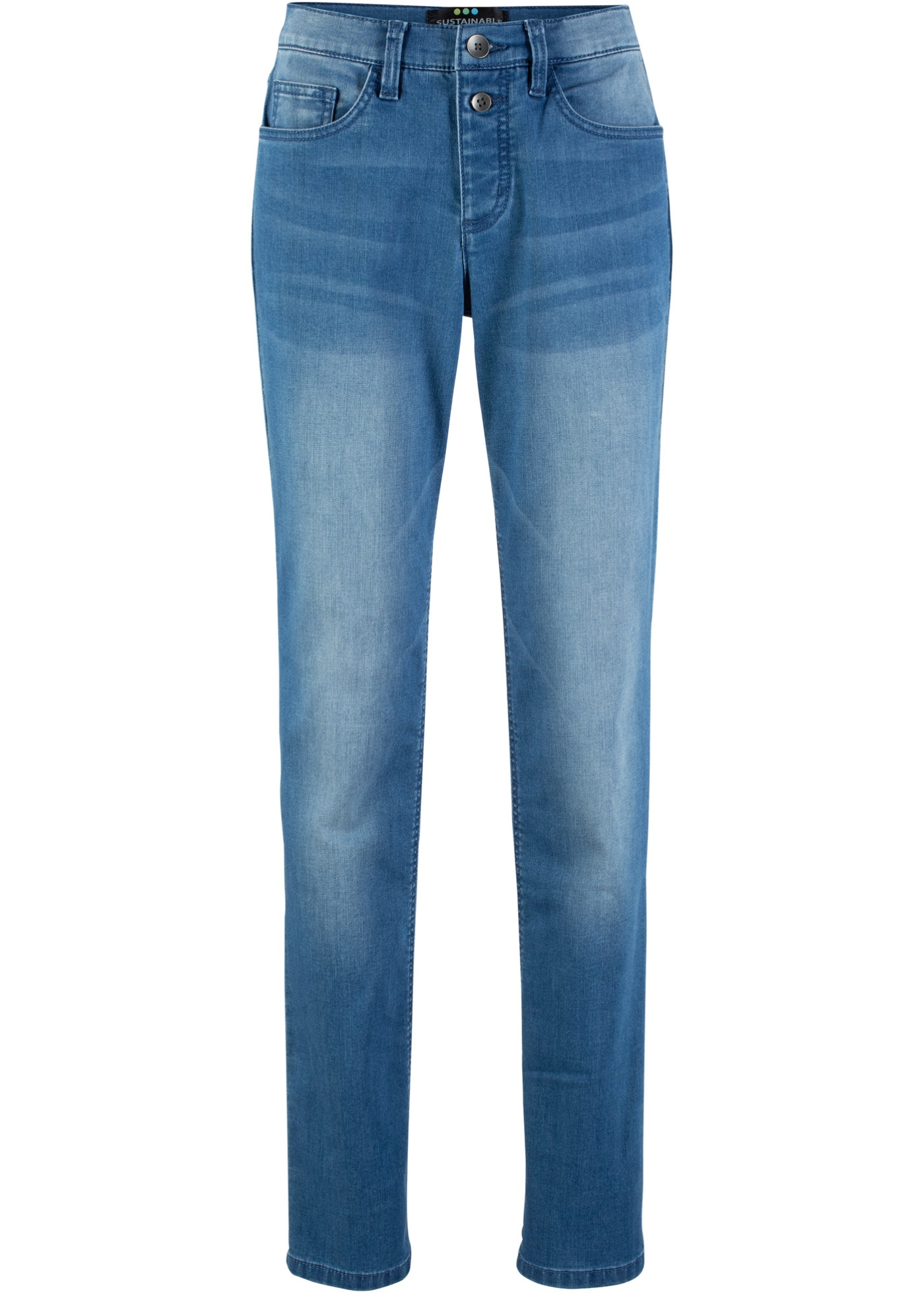 Bonprix Fit Bpc En responsable CollectionJean Polyester Bleu RecycléSlim Femme Pour Éco XuwPkiZOTl