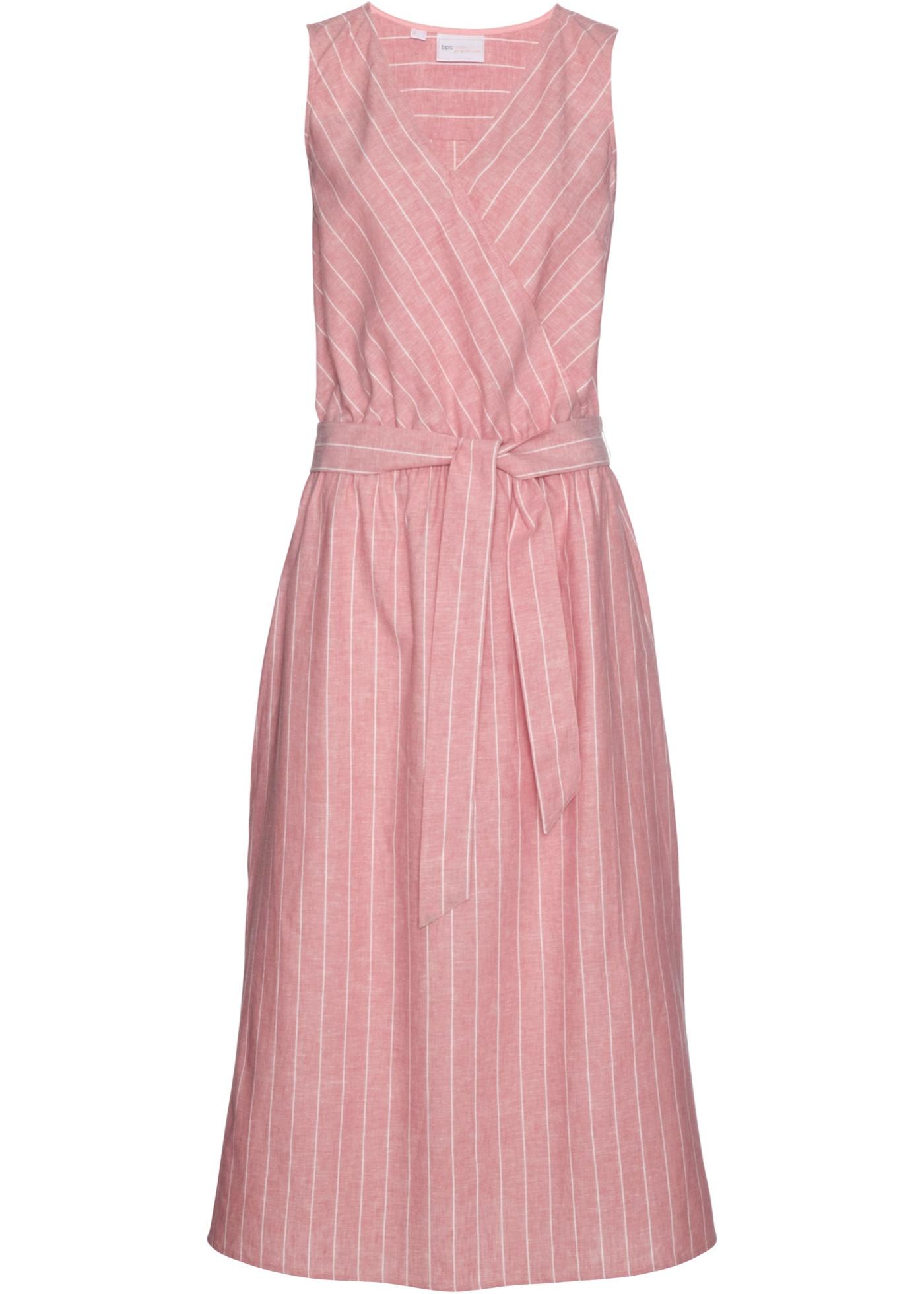 Selection Pour Lin BonprixRobe En Manches Premium Sans D'été Rose Bpc Femme JcFT1ul3K