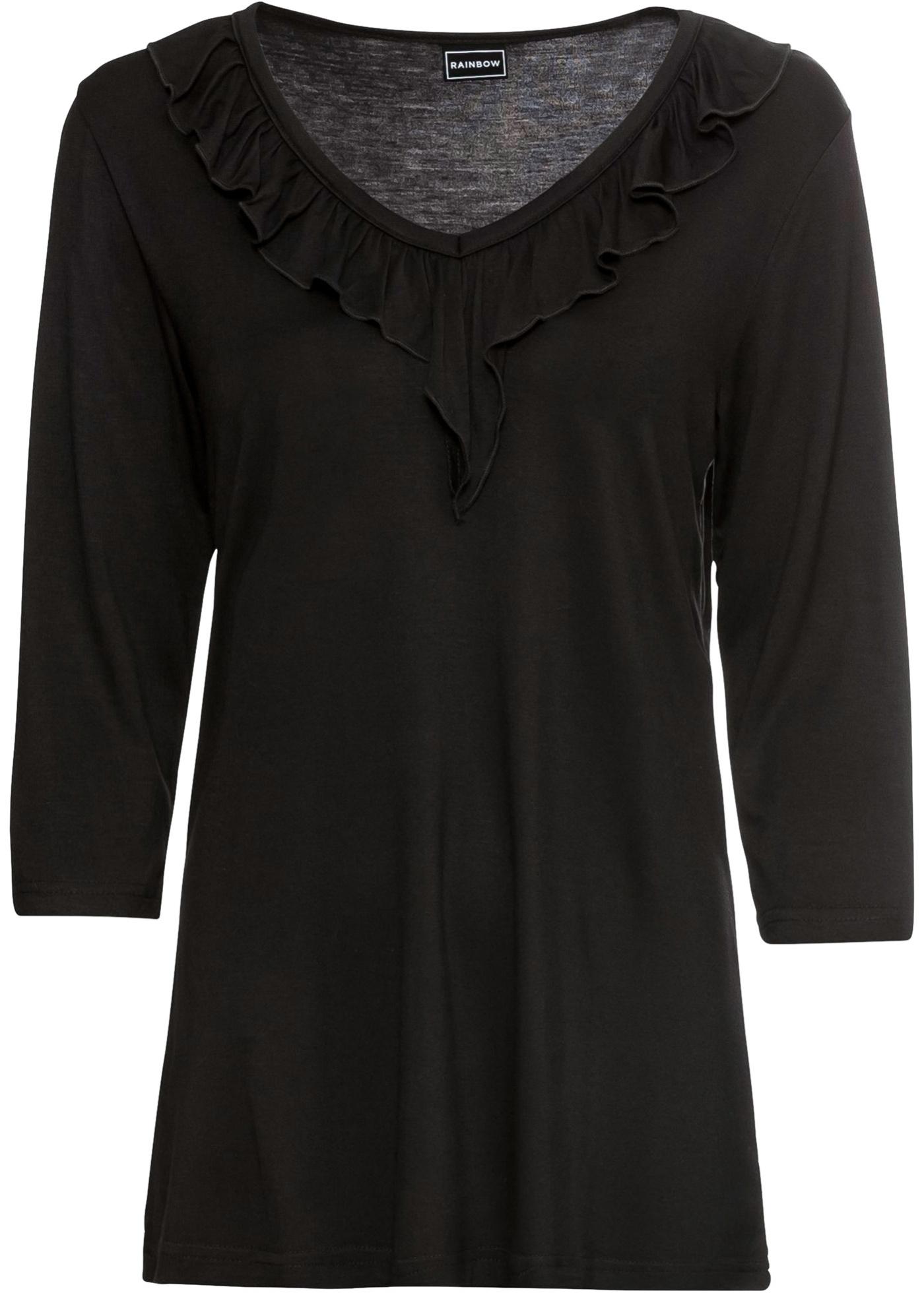 Rainbow Noir 3 Femme shirt Manches 4 BonprixT Pour fgY7byvI6