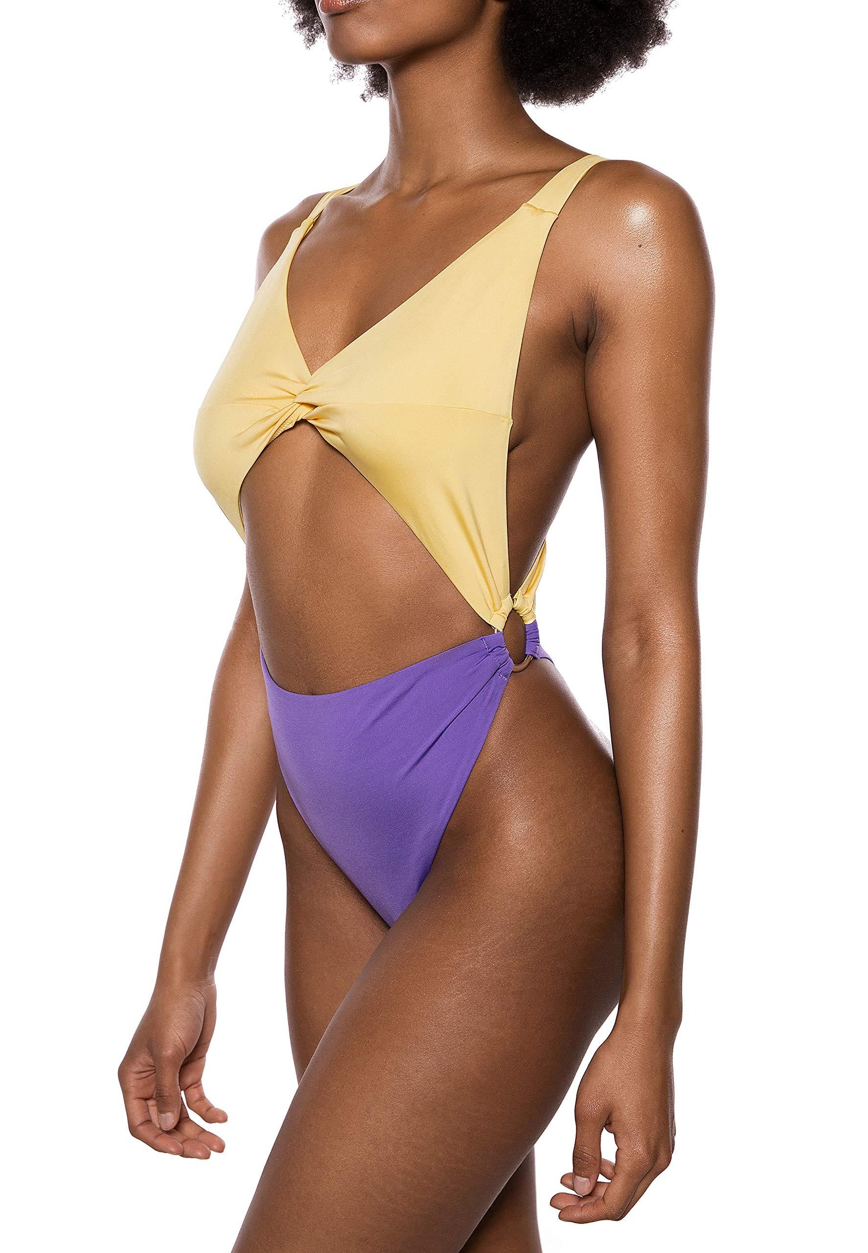 Maillot Revel Fabricant34Femme Une Swimsuit purple Twist De PièceMulticoloreyellow 36258taille Ivy Front 7fgyYb6