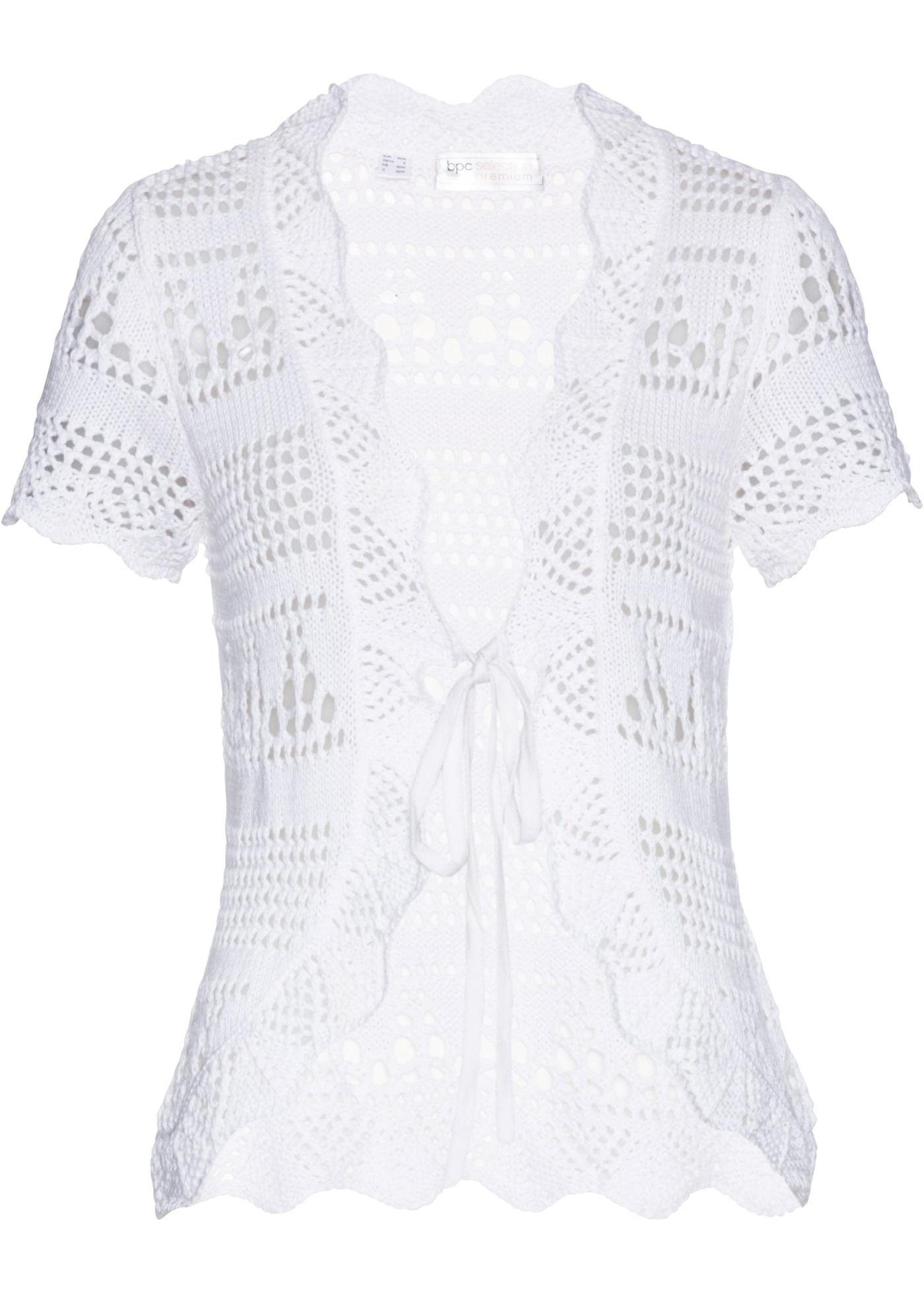 Femme Pour Maille Manches Blanc Courtes Selection Premium En Bpc BonprixGilet jMVSGLqUzp