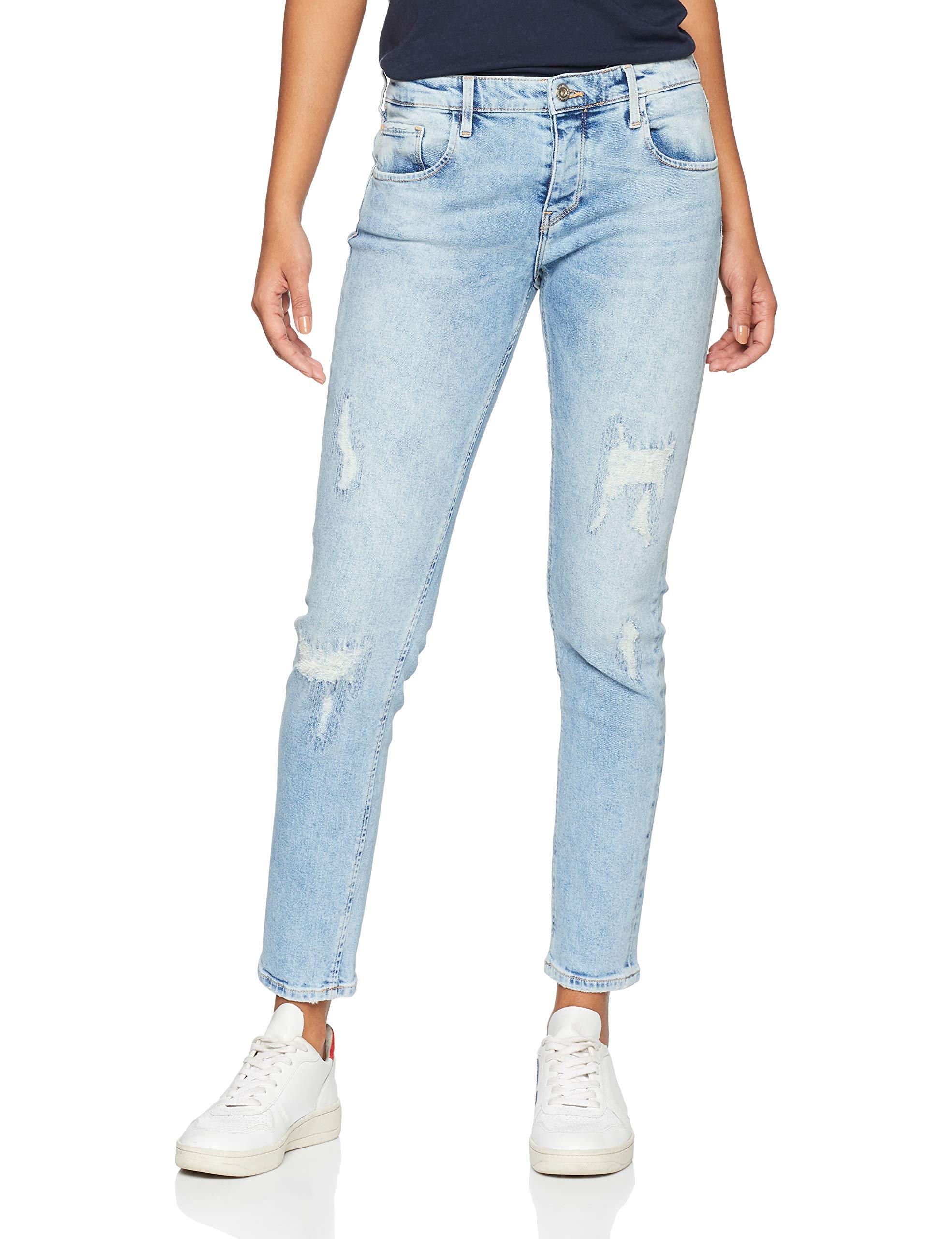 Jean 049W32taille Gwen Destroyed Fabricant32Femme Blue Cross BoyfriendBleulight Jeans GVSqzpUM