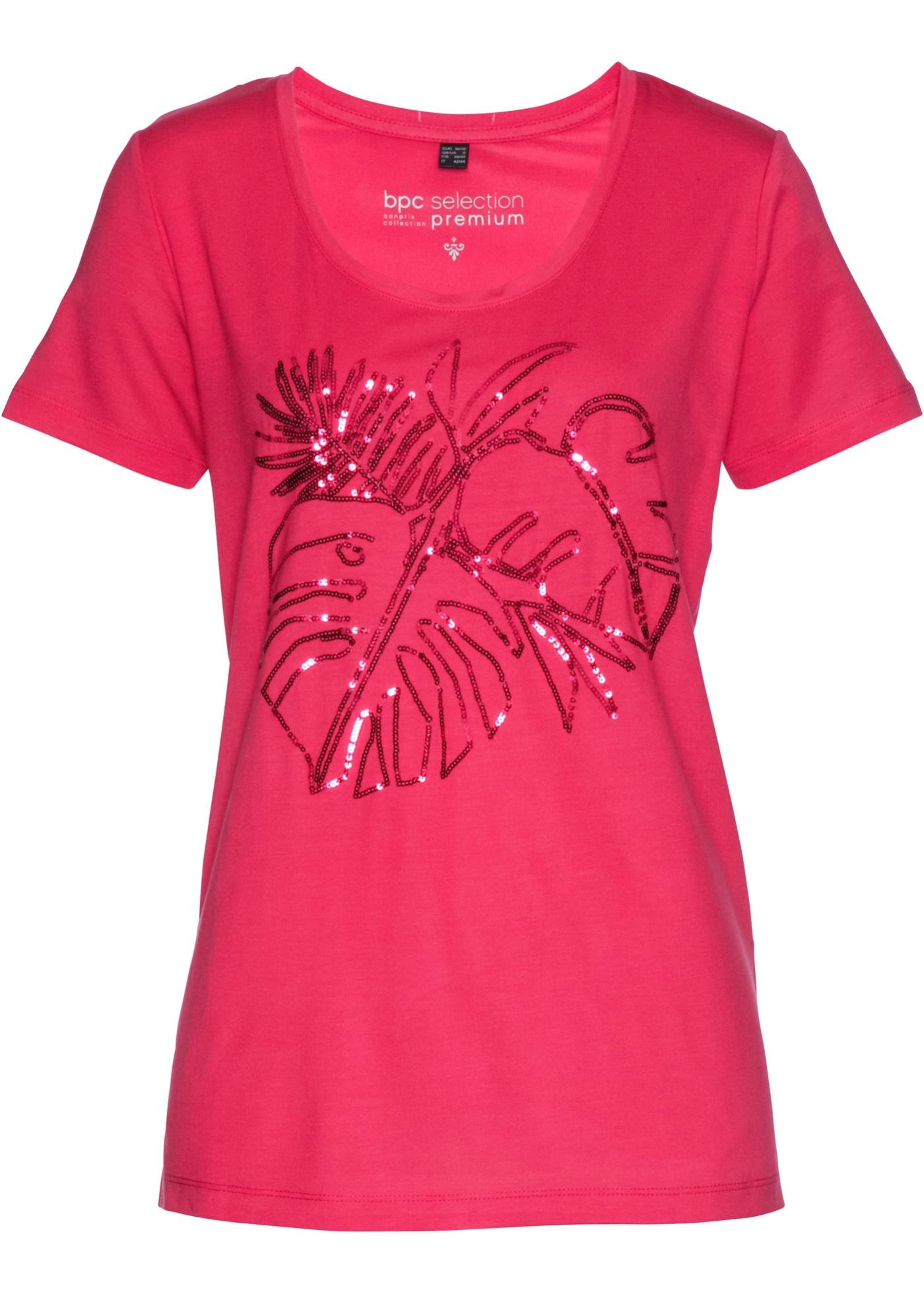 Pour Courtes Femme Manches Fuchsia Bpc shirt À Selection Premium BonprixT Paillettes nwOP8N0kX