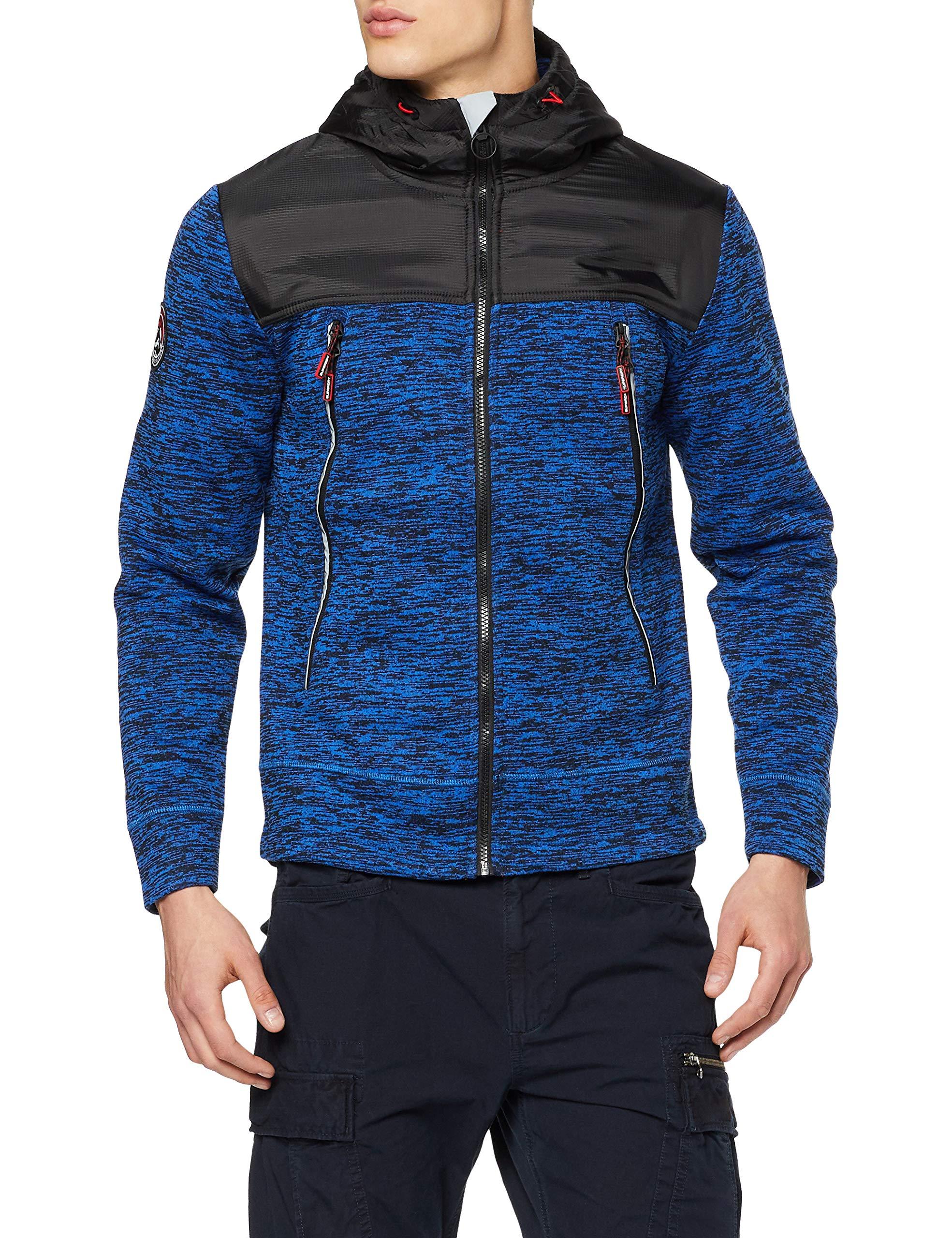 À CapucheBleucobalt Mountain Marl Superdry shirt Tech YfeMedium Ziphood Homme navy Sweat K1Tlc3uFJ