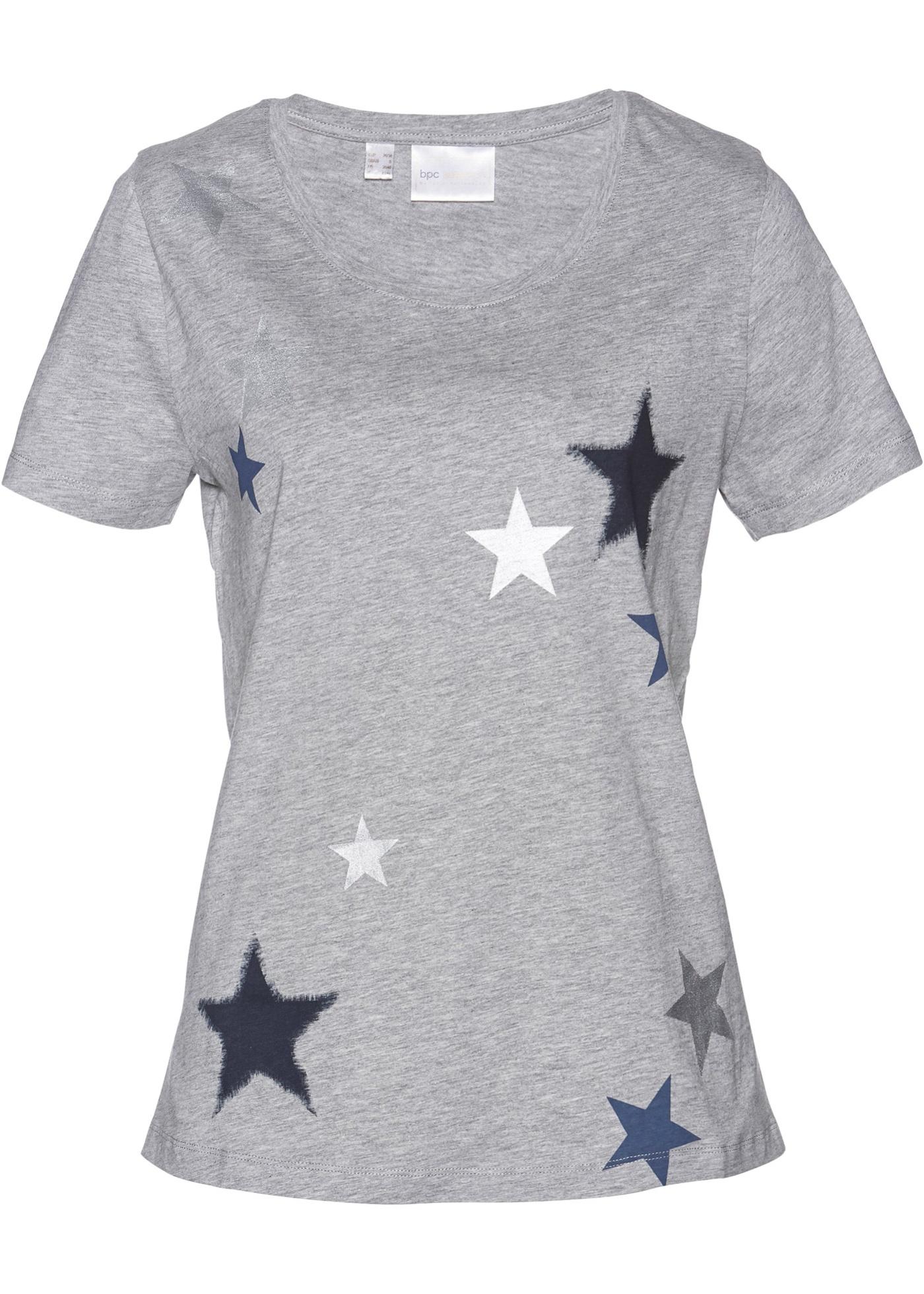 BonprixT Selection Femme Pour shirt Bpc Courtes Manches Gris RAq54Lj3