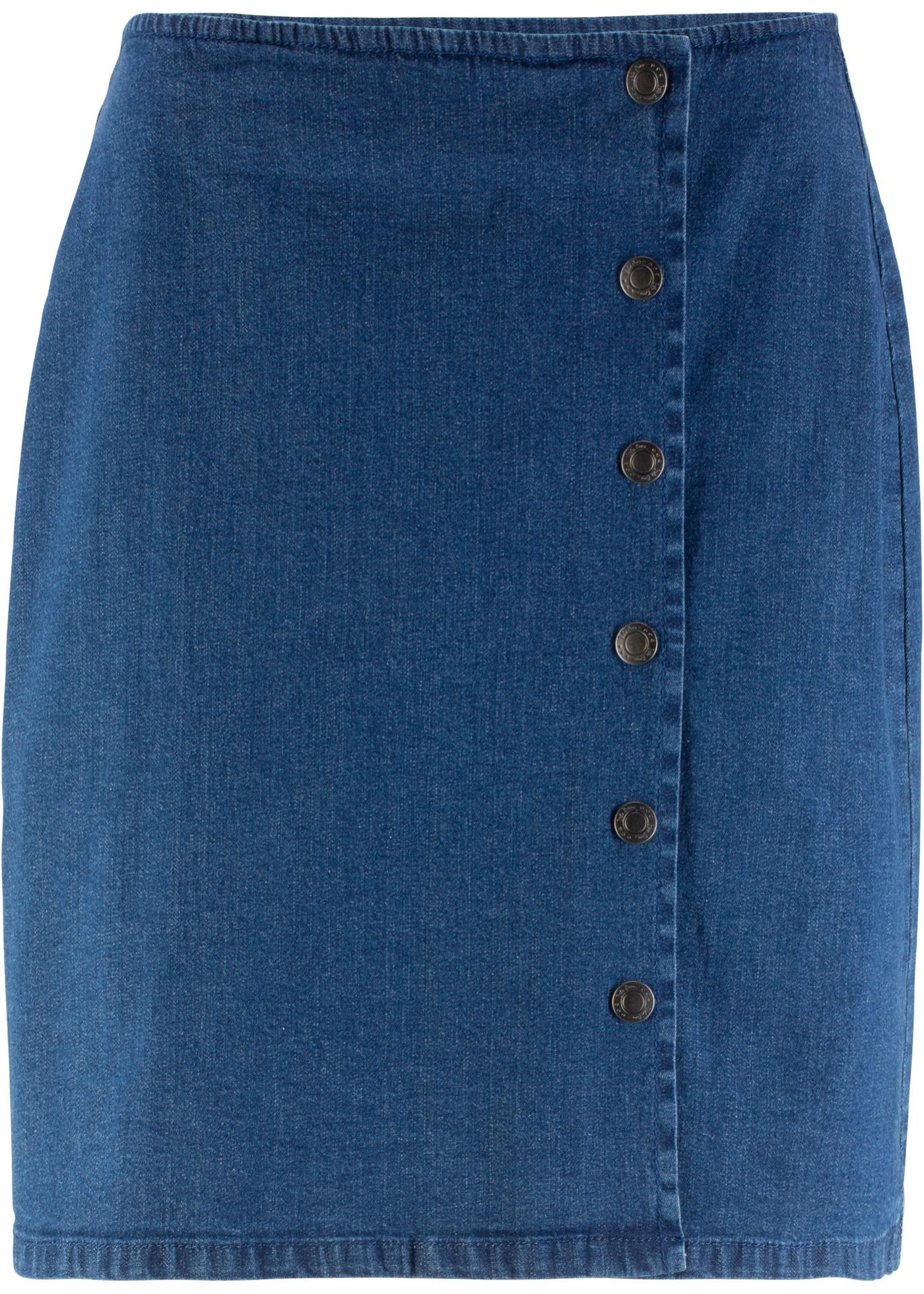 Femme Baner En À Portefeuille Pour Jeanswear Jean Boutons Style Bleu John BonprixJupe Yf7v6Iybmg